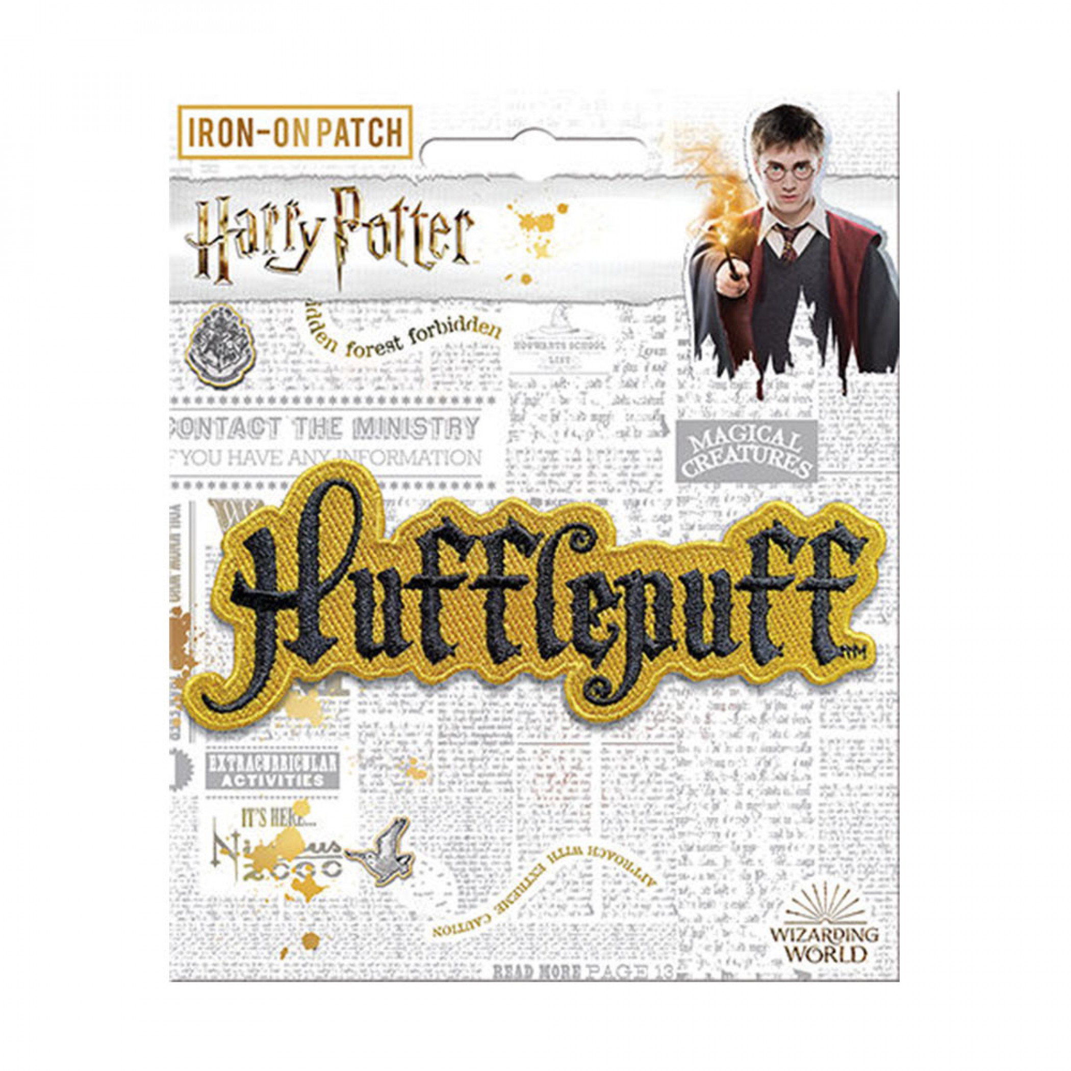 Harry Potter Hufflepuff Text Iron On Patch