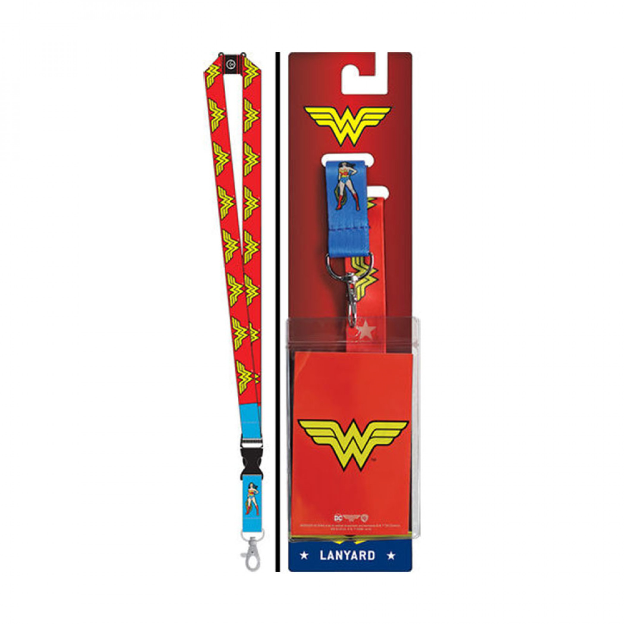 Wonder Woman Repeating Logos Lanyard