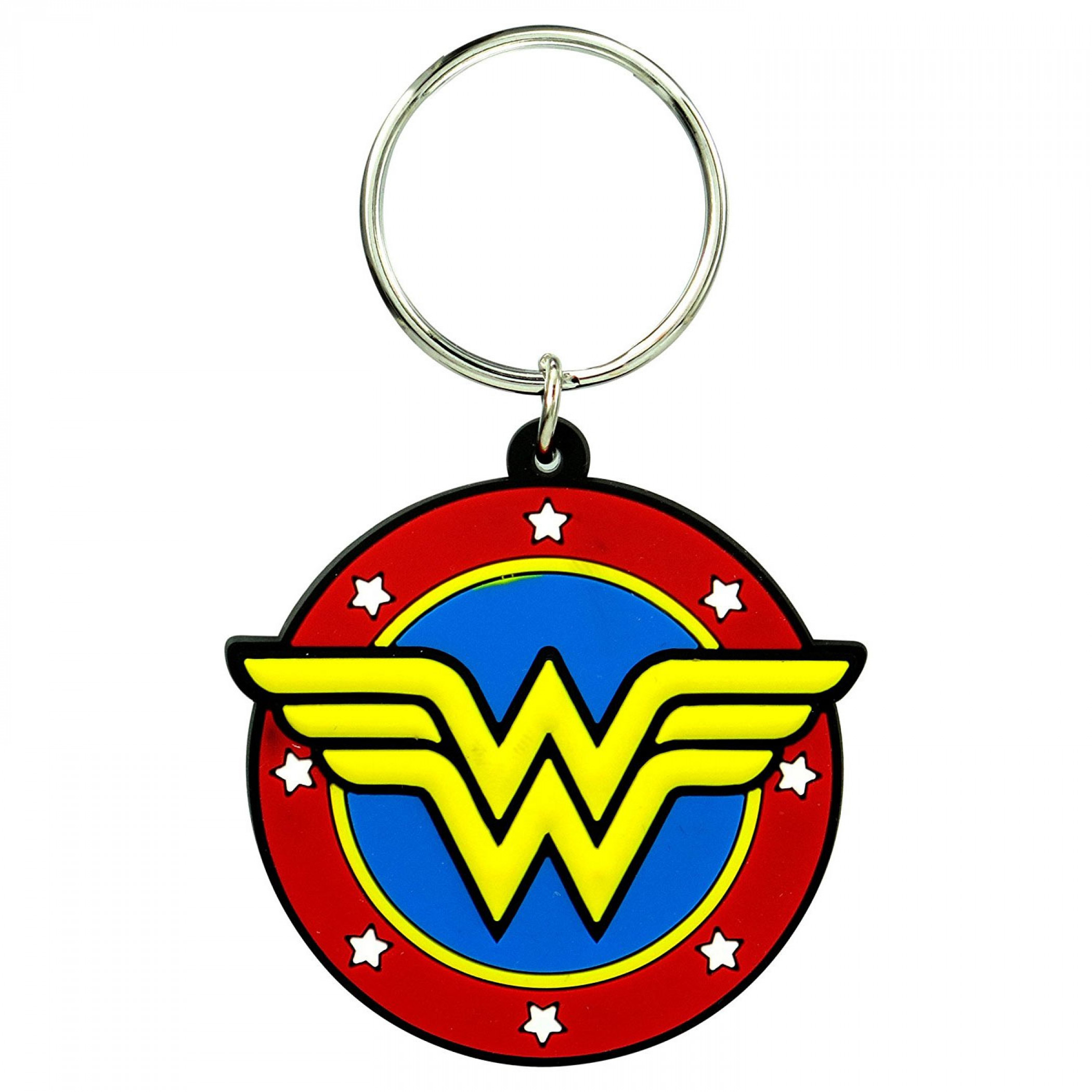 Wonder Woman Stars Symbol Keychain