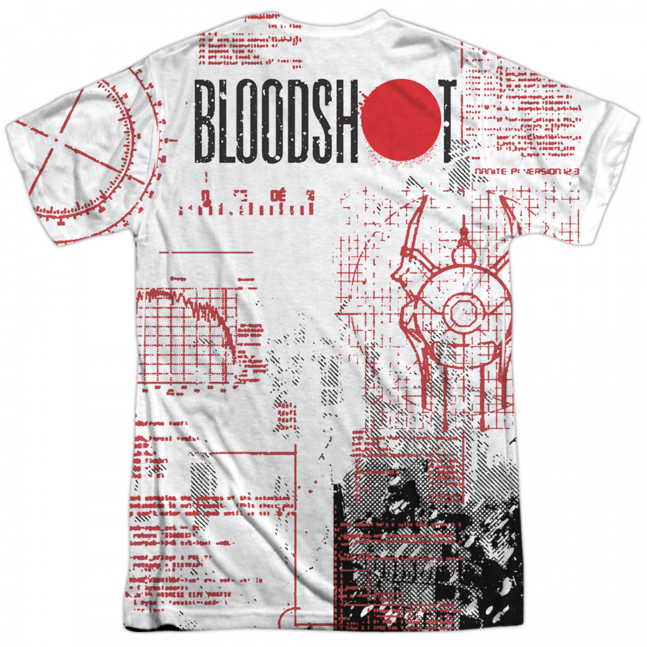 Bloodshot Tactical Front and Back Print T-Shirt