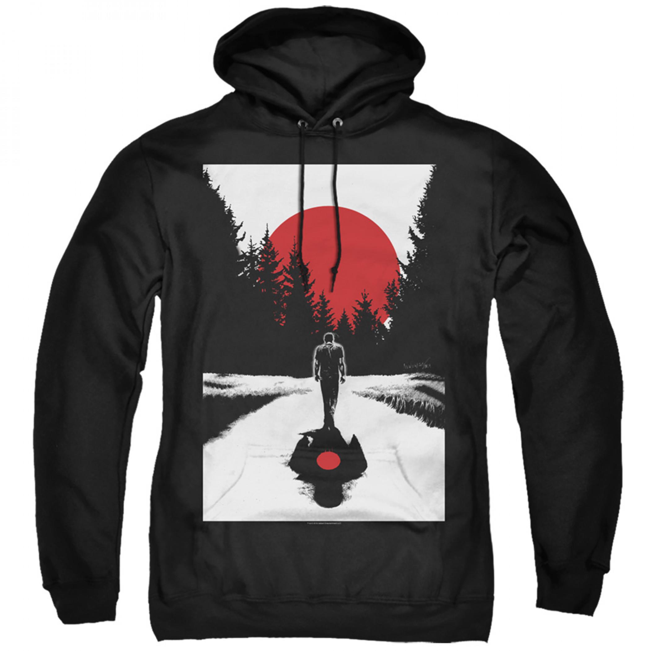 Bloodshot Woods Black Hoodie