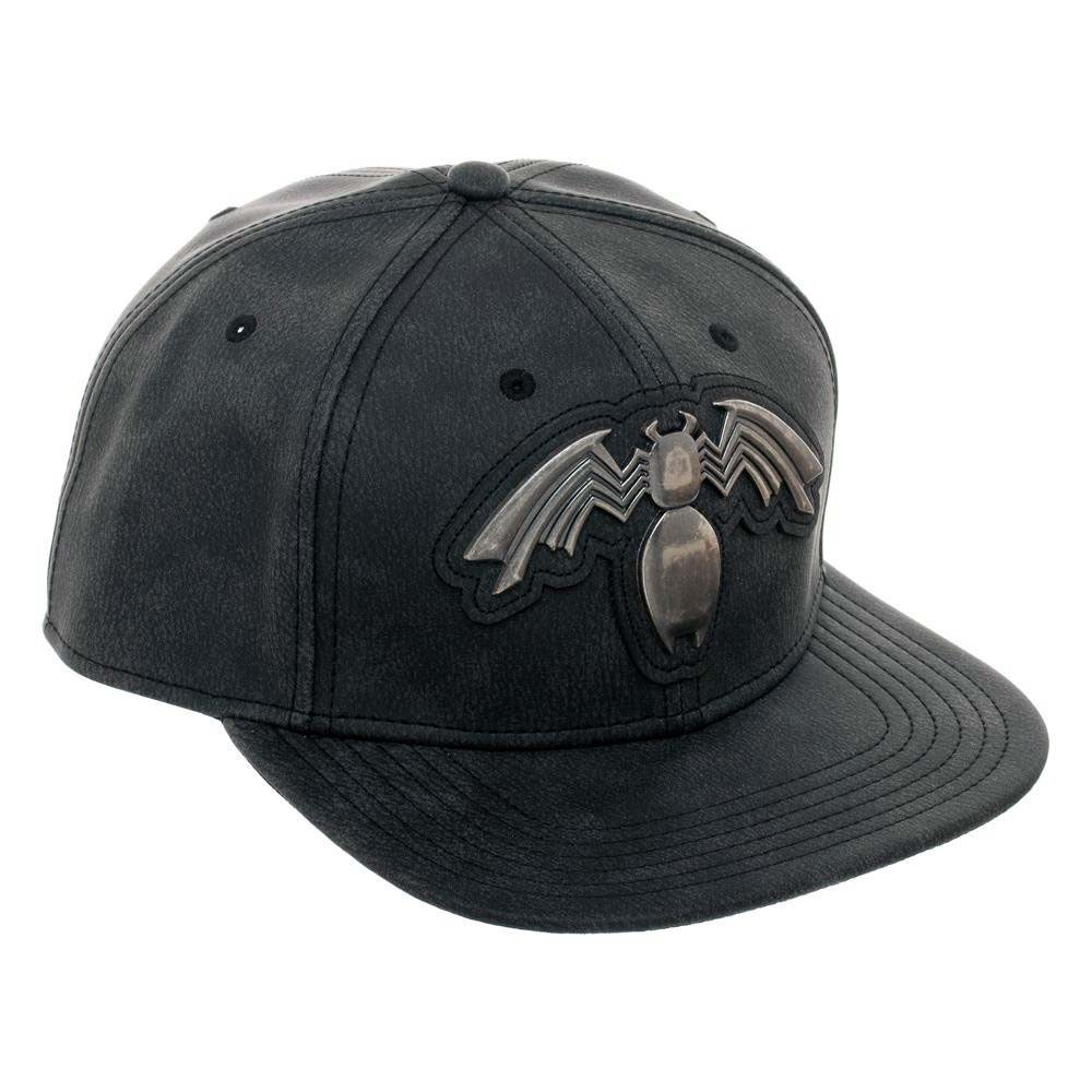 Venom Distressed Metal Black Snapback Hat