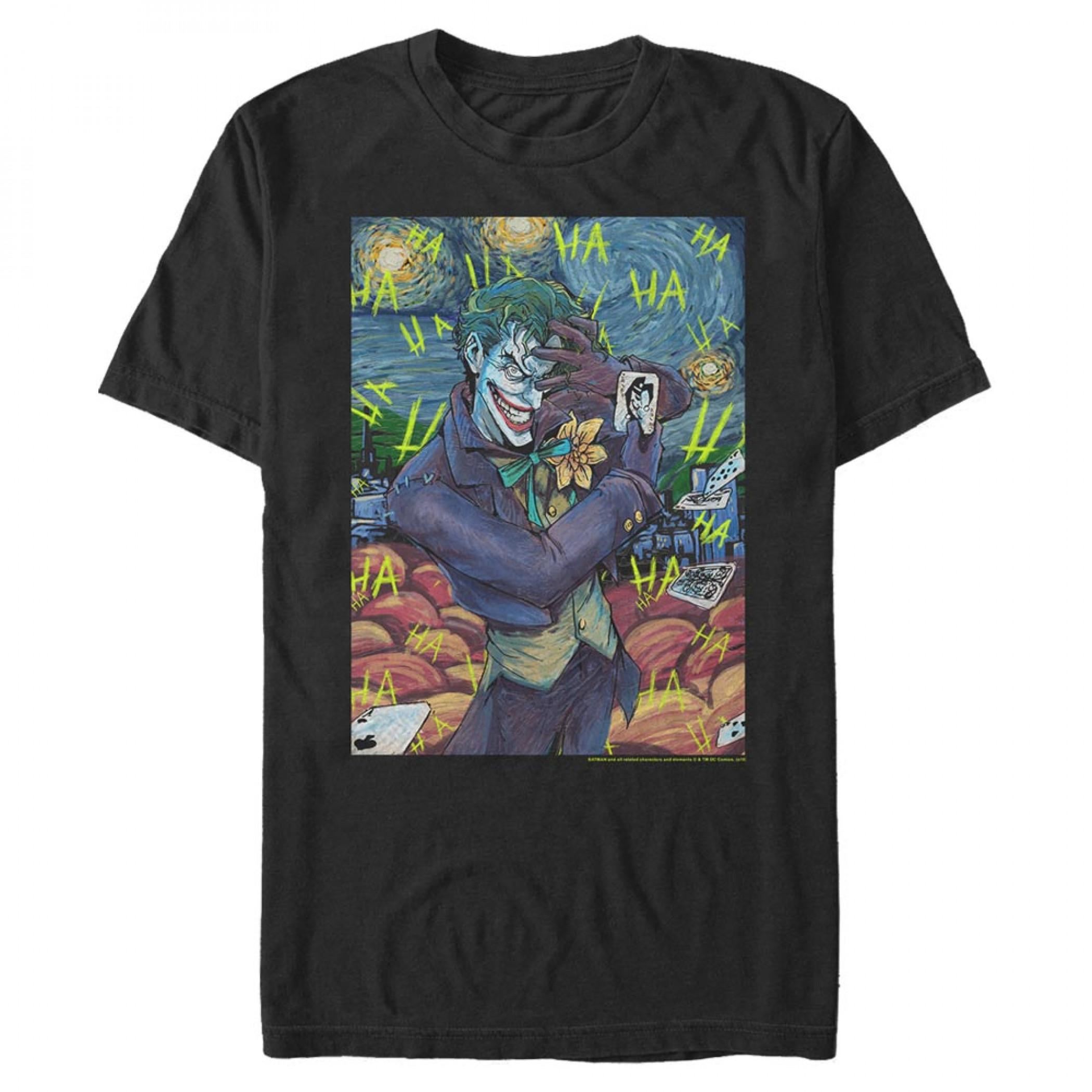 The Joker Van Gogh Painting T-Shirt
