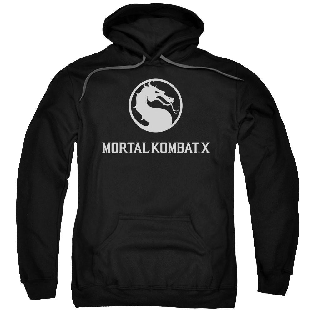 Mortal Kombat X Dragon Logo Black Pullover Hoodie