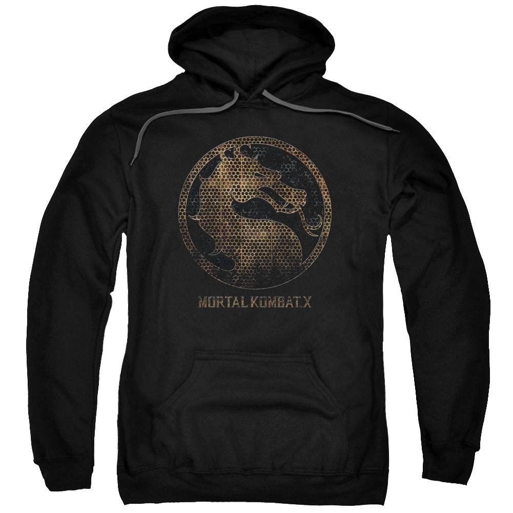 Mortal Kombat X Metal Seal Black Pullover Hoodie