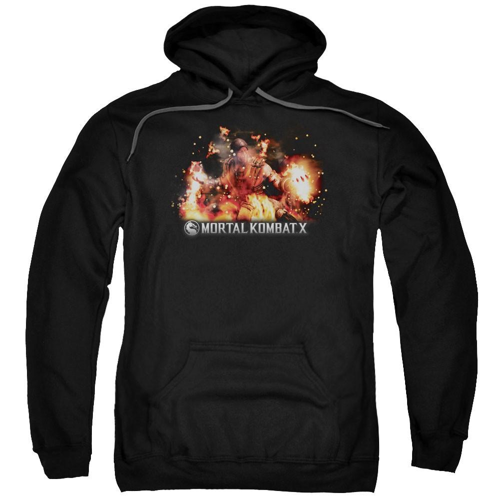 Mortal Kombat X Scorpio Flames Black Pullover Hoodie
