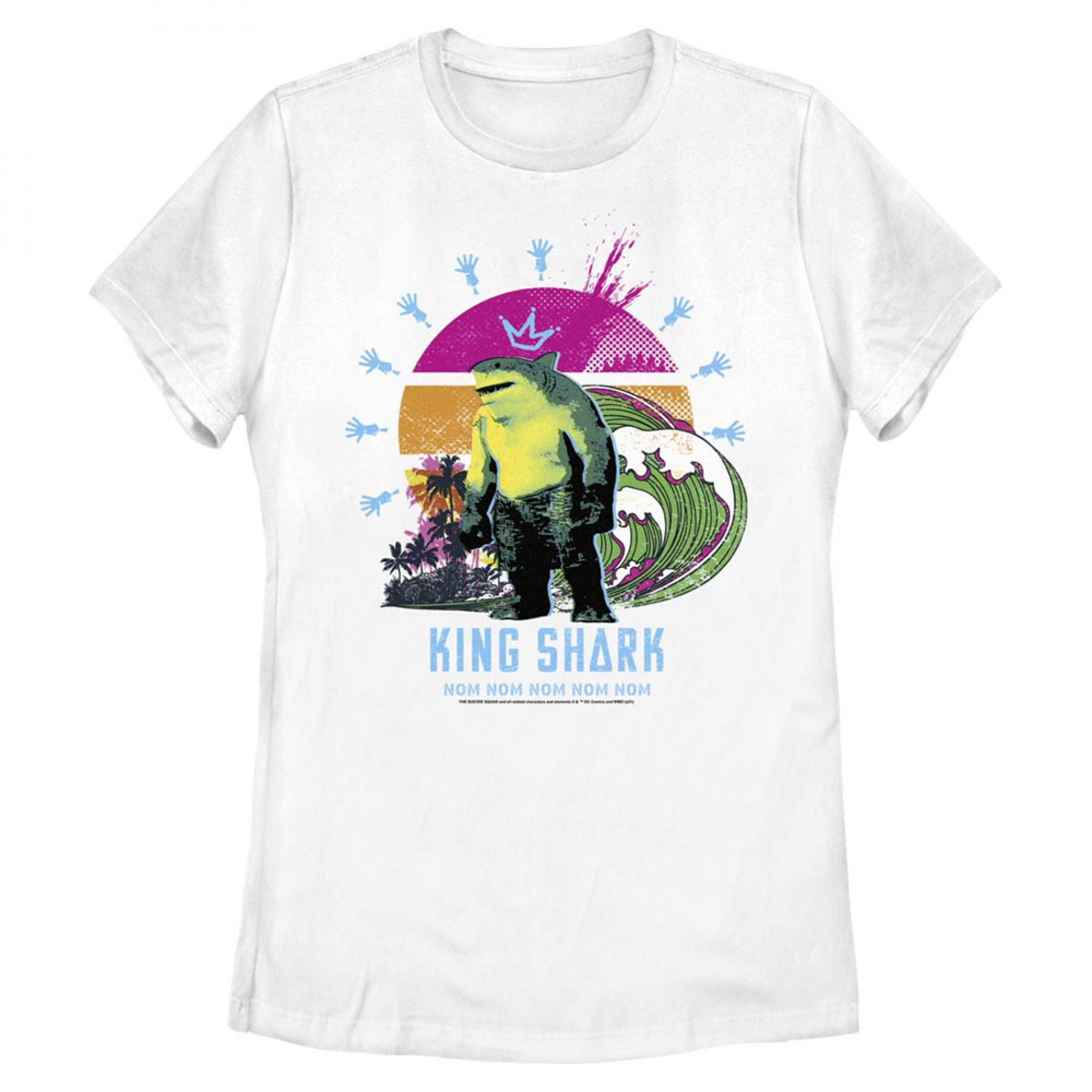 The Suicide Squad King Shark Beach Sunrise Juniors T-Shirt