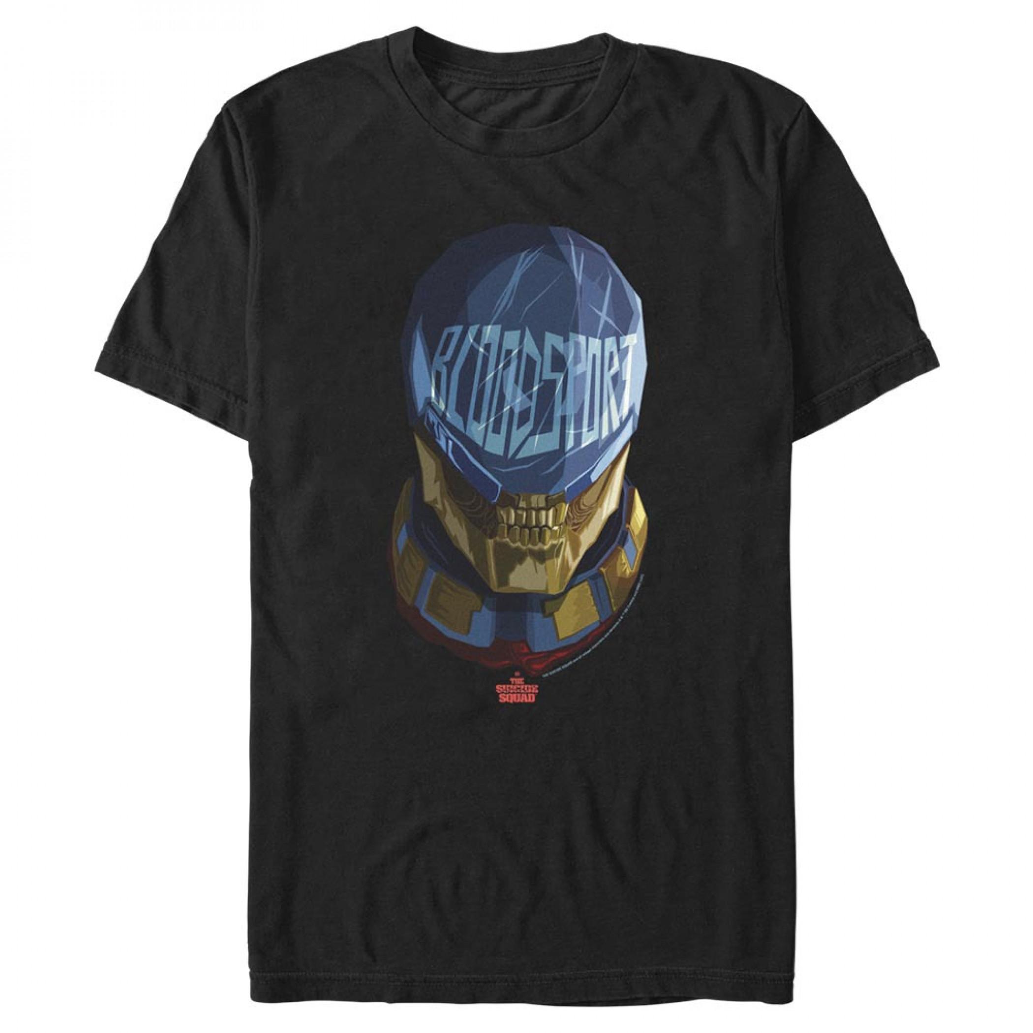 The Suicide Squad Bloodsport Stylized Character Portrait Men's T-Shirt