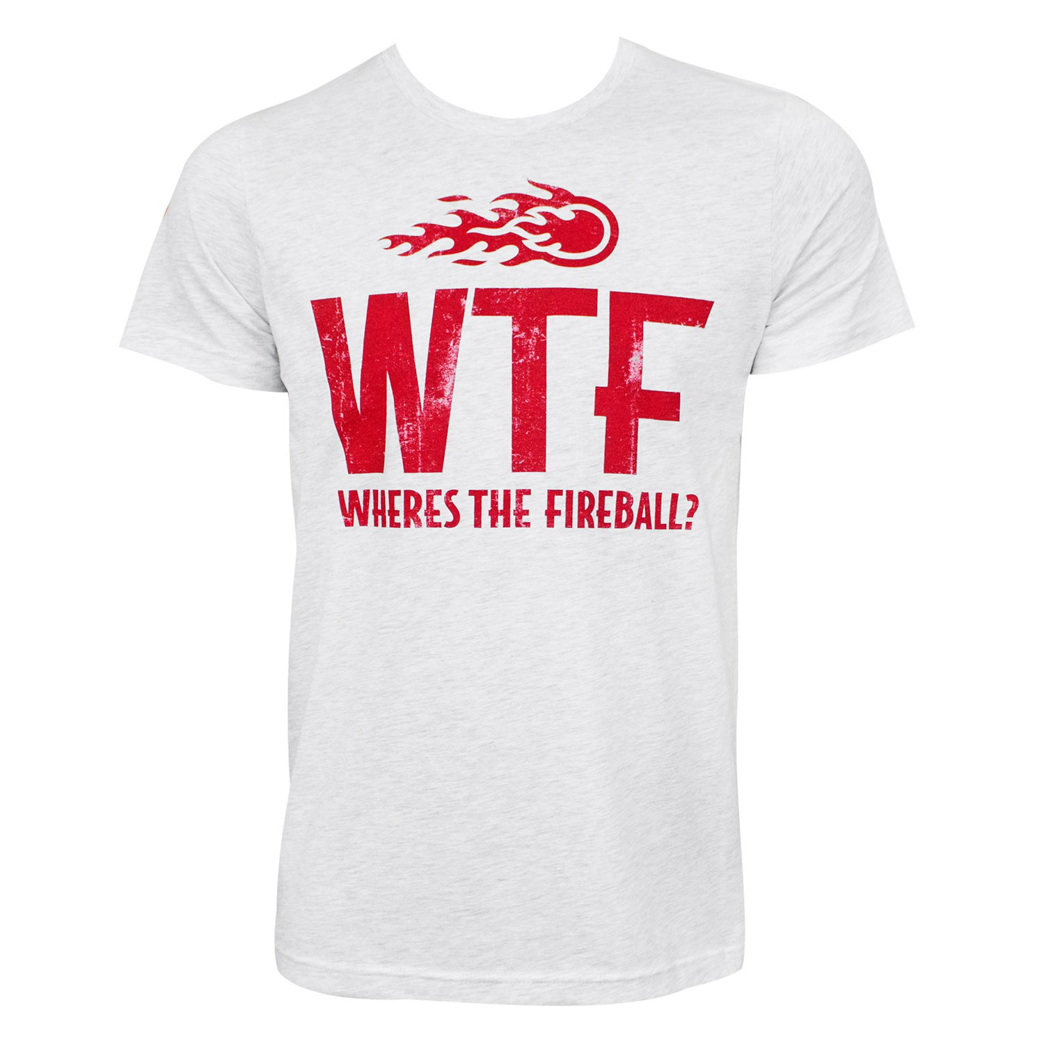 Fireball Whisky WTF Logo Heather Grey Tee Shirt