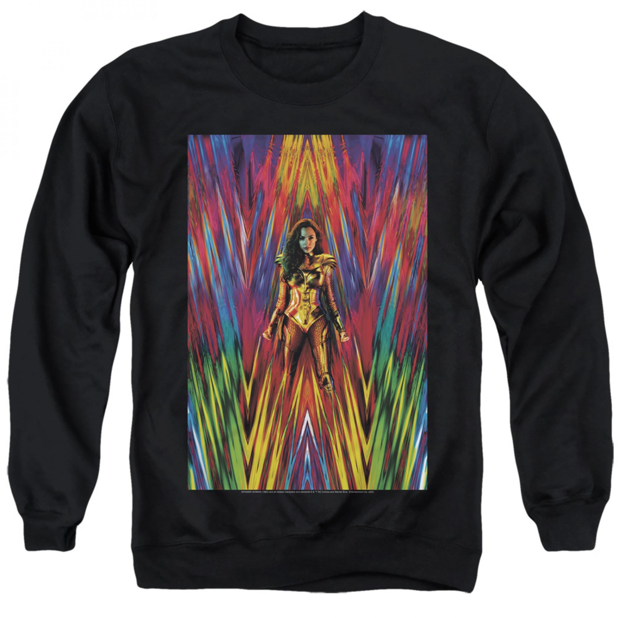 Wonder Woman 1984 Movie Poster Crewneck Sweater