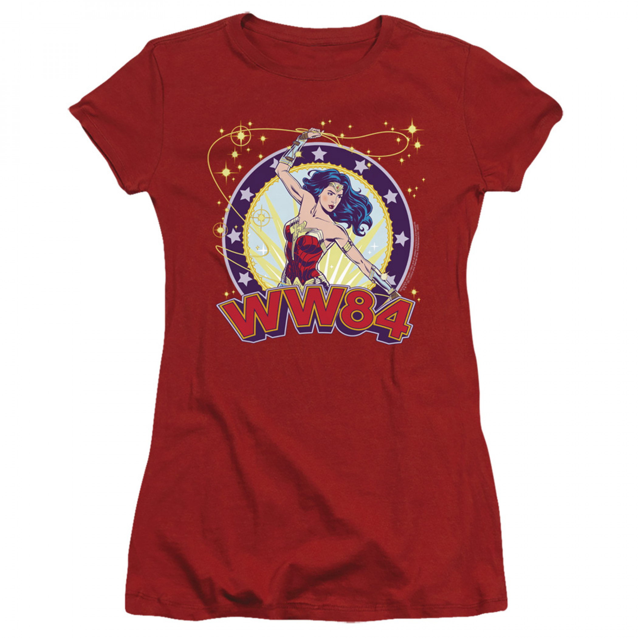 Wonder Woman 1984 Movie Lasso Star Women's Fitted T-Shirt
