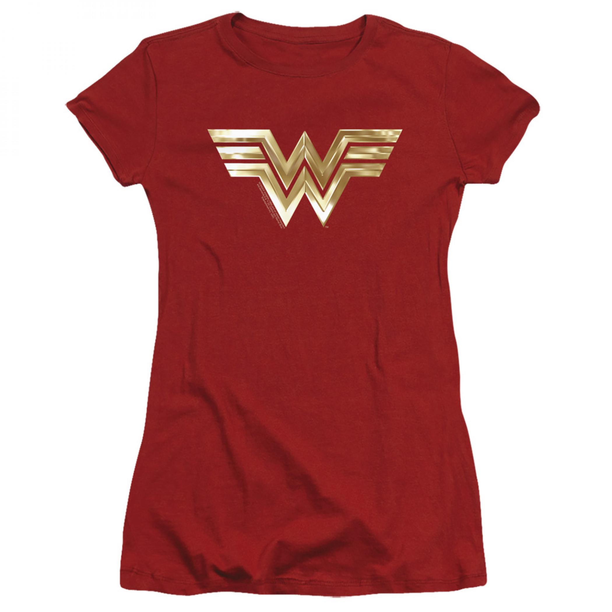 Wonder Woman 1984 Movie Juniors Golden Logo T-Shirt