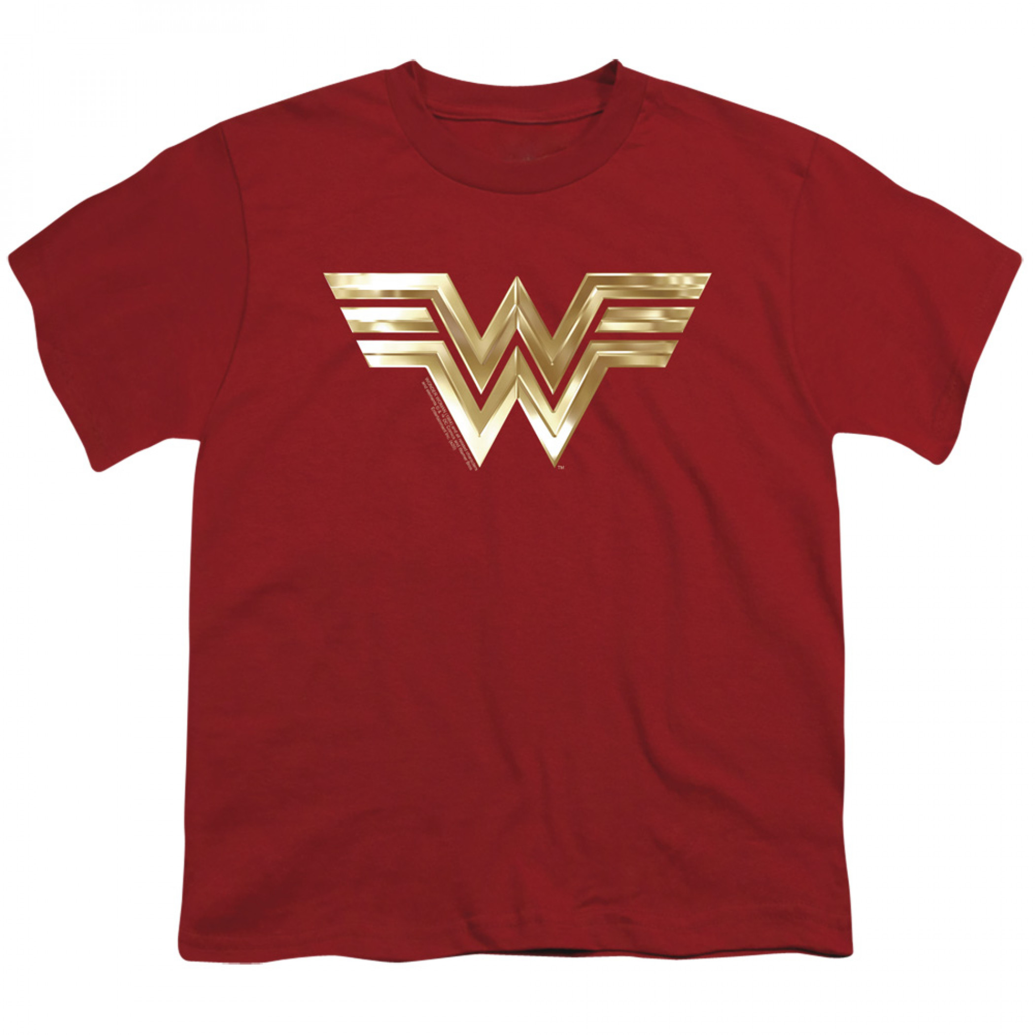 Wonder Woman 1984 Golden Movie Logo Youth T-Shirt