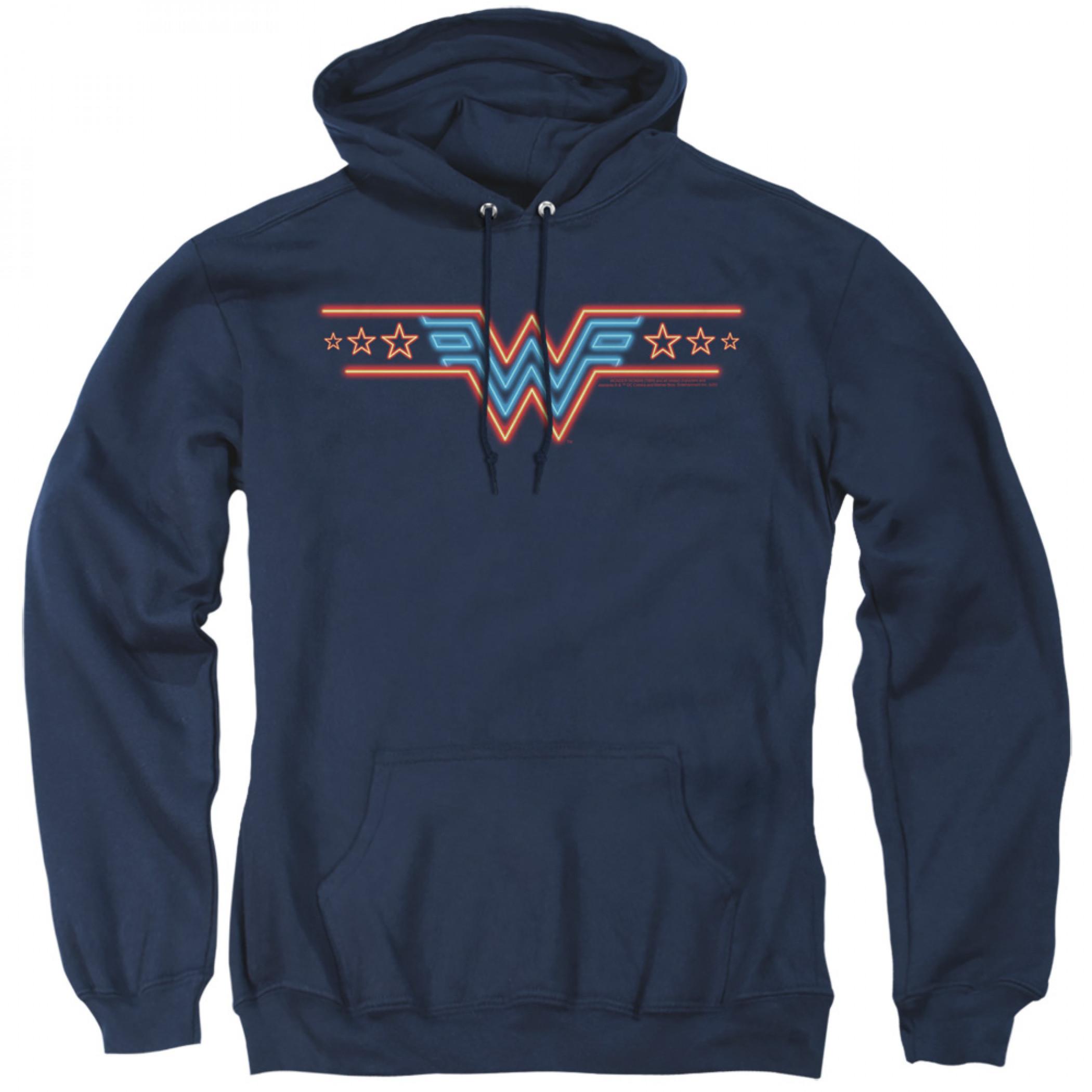 Wonder Woman 1984 Movie Neon Logo Hoodie