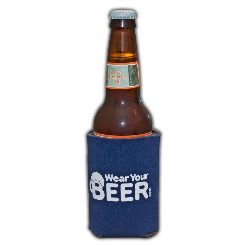 Wear Your Beer Logo Navy Blue Can Bottle Cooler