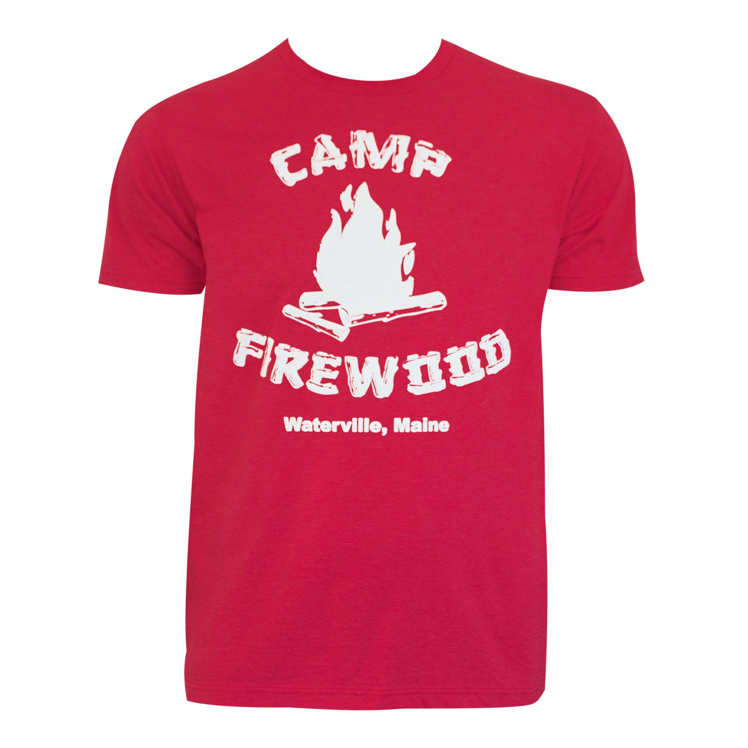 Wet Hot American Men's Red Camp Firewood T-Shirt
