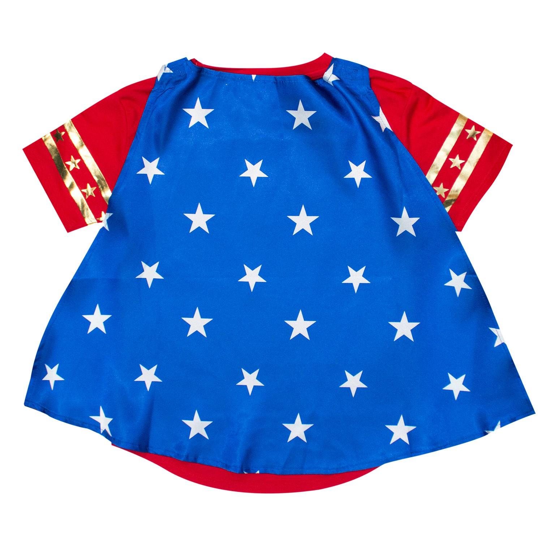 Wonder Woman Caped Youth Girls T-Shirt