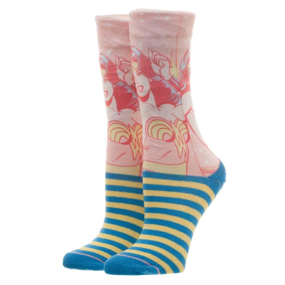 Wonder Woman Faded Neon Socks