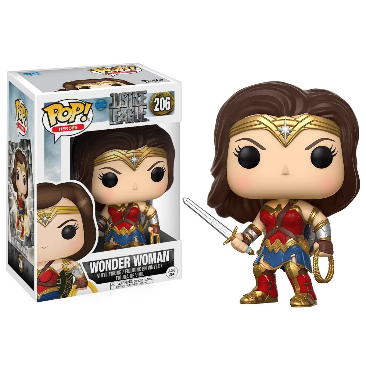Justice League Wonder Woman Funko Pop Vinyl Figure