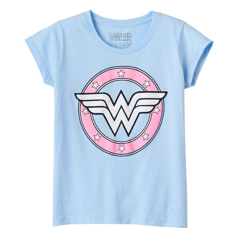 Wonder Woman Youth Girl's Light Blue Tee Shirt