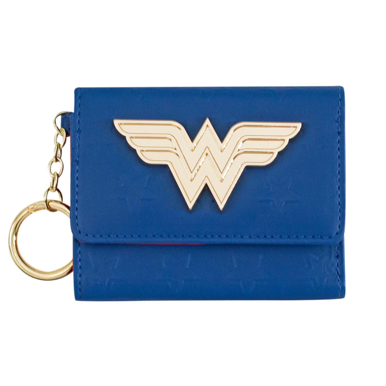 Wonder Woman Mini Trifold Blue Wallet