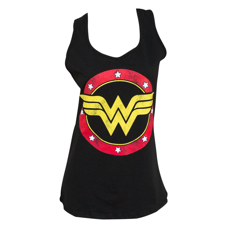 Wonder Woman Ladies Black Racerback Tank Top