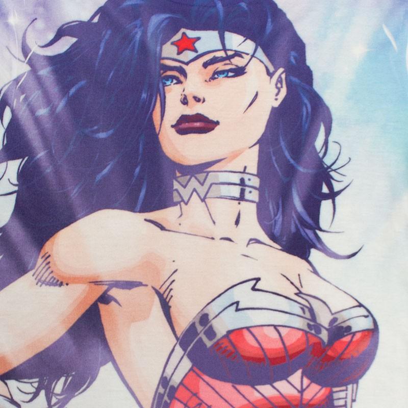Wonder Woman Junior's Sublimated Pose Tee Shirt