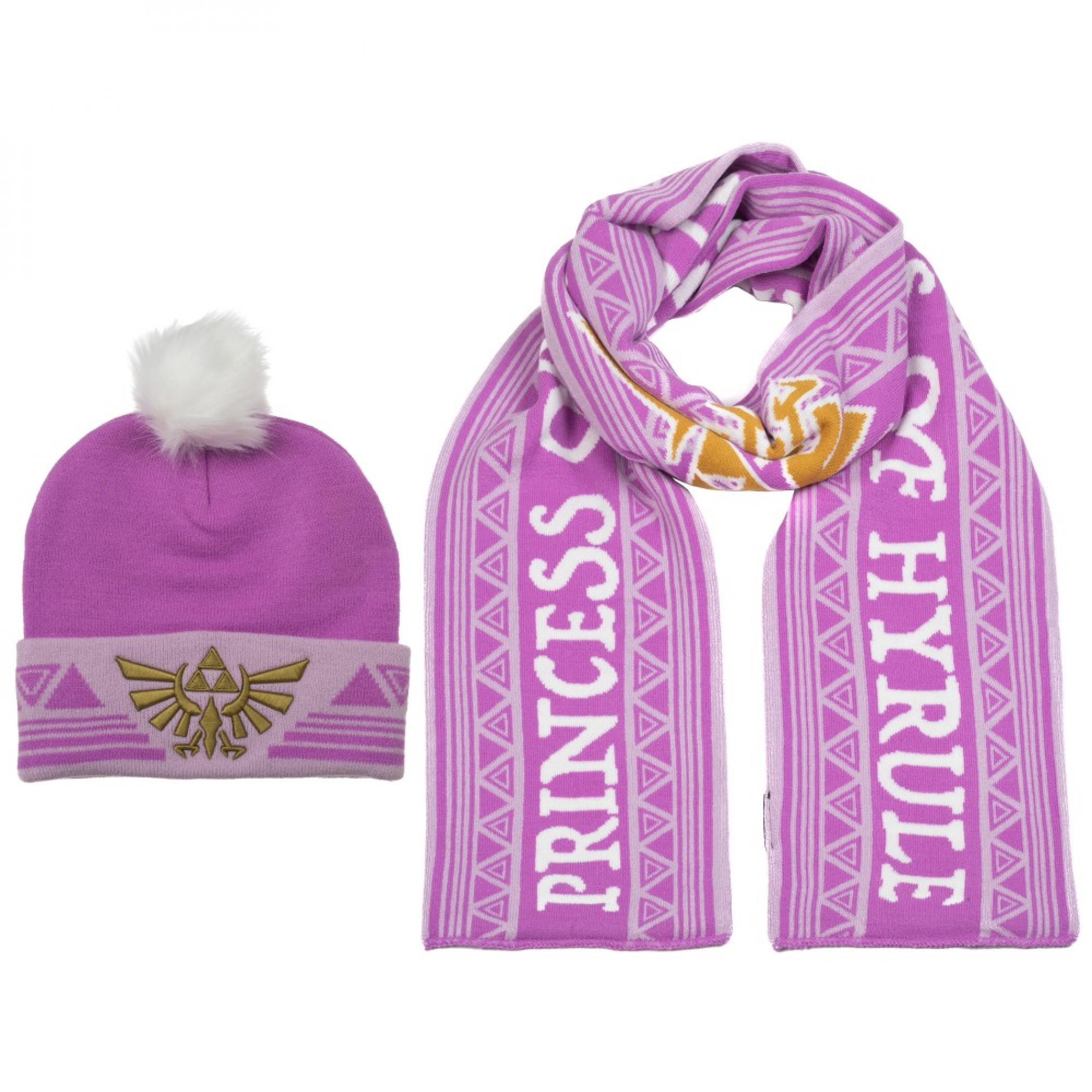 Zelda Twilight Princess Nintendo Symbol 2-Piece Beanie and Scarf Set