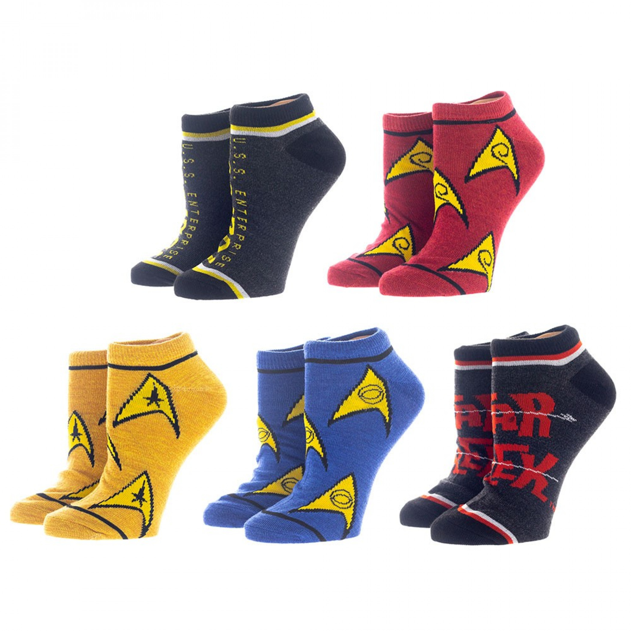 Star Trek 5-Pair Pack of Women's Ankle Socks