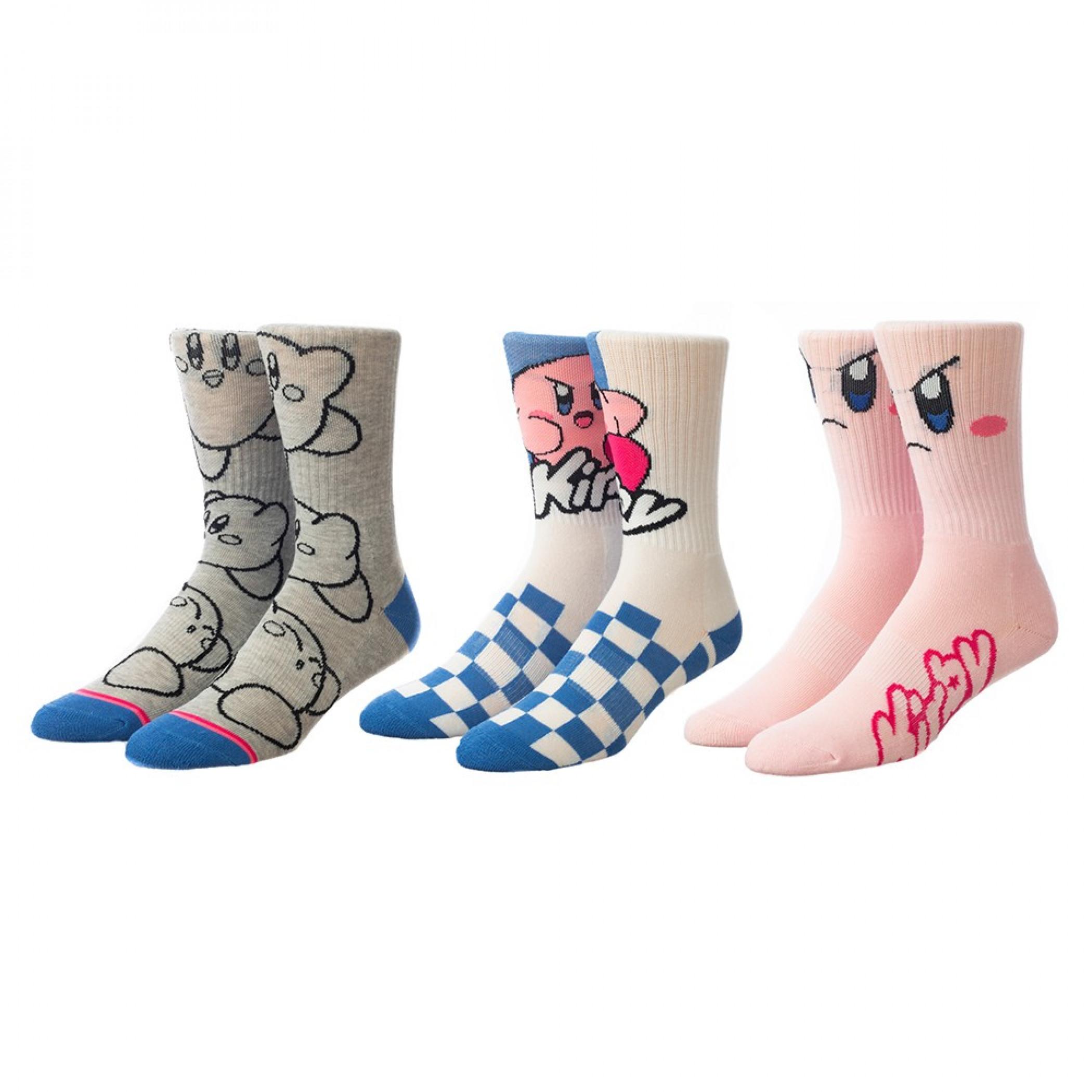 Nintendo Kirby 3-Pair Pack of Women's Casual Crew Socks