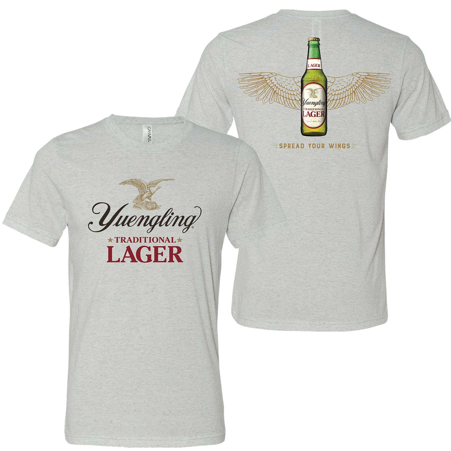 Yuengling Spread Your Wings Men's Grey T-Shirt