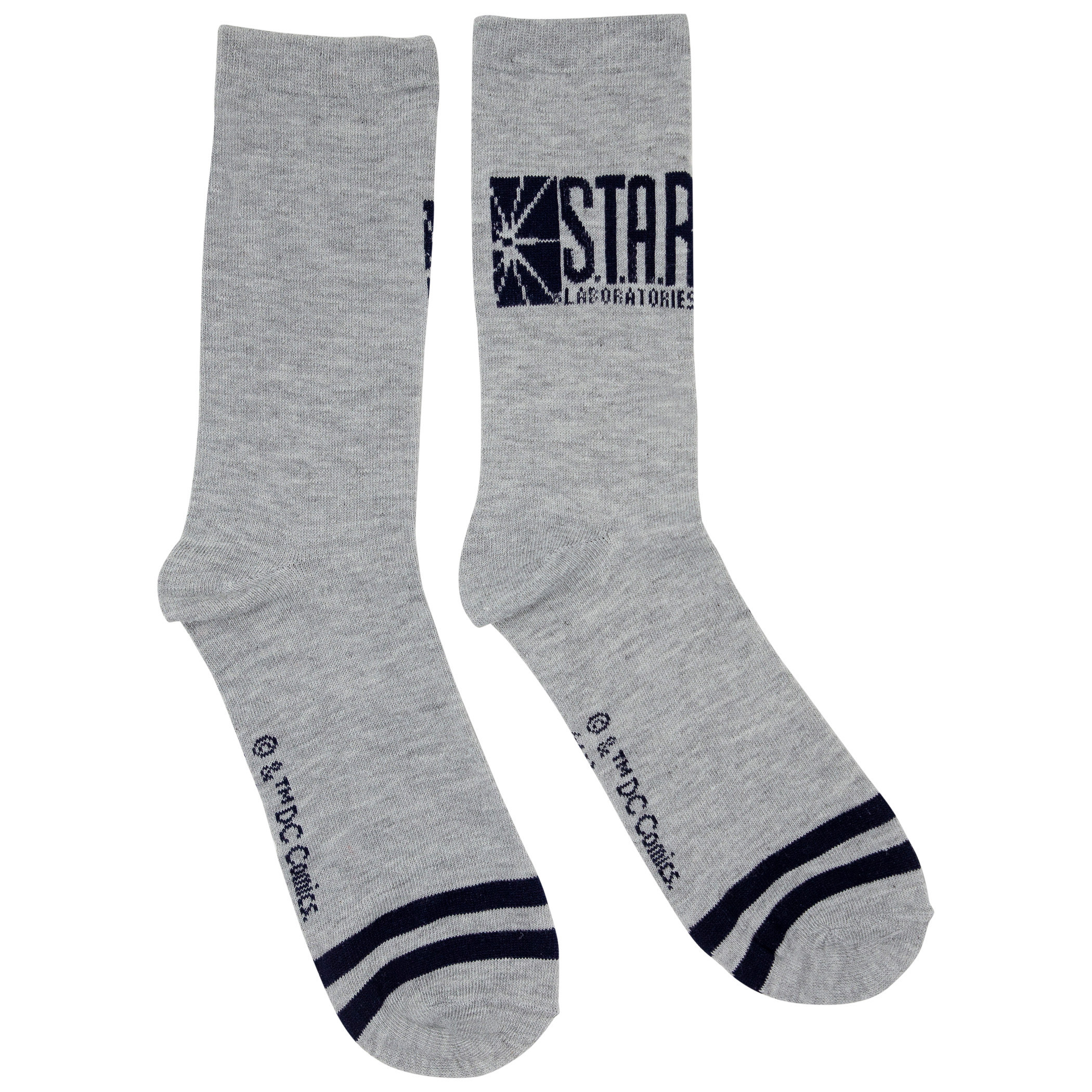 The Flash S.T.A.R. Labs Grey Crew Socks