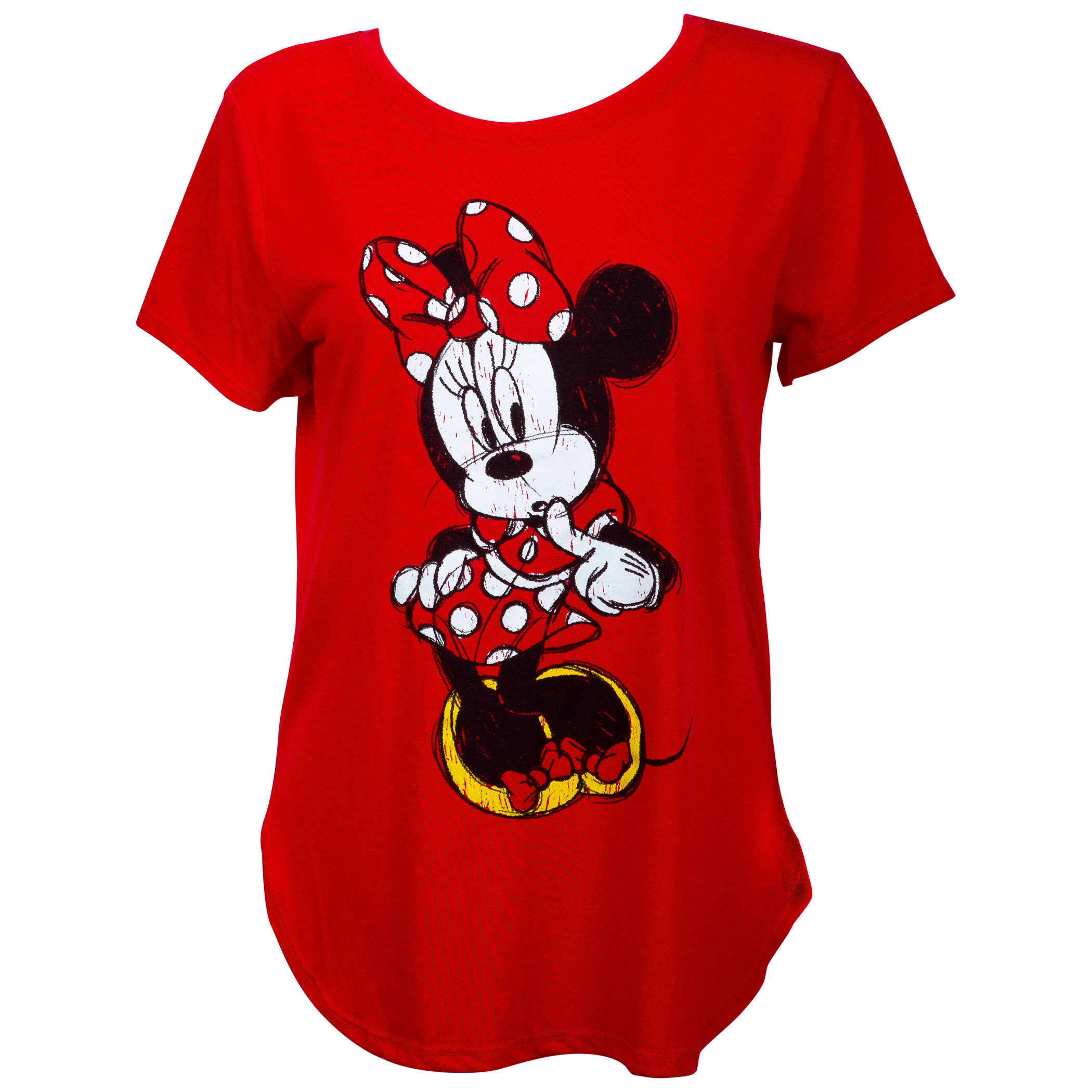 Minnie Mouse Flirty Women's Red T-Shirt