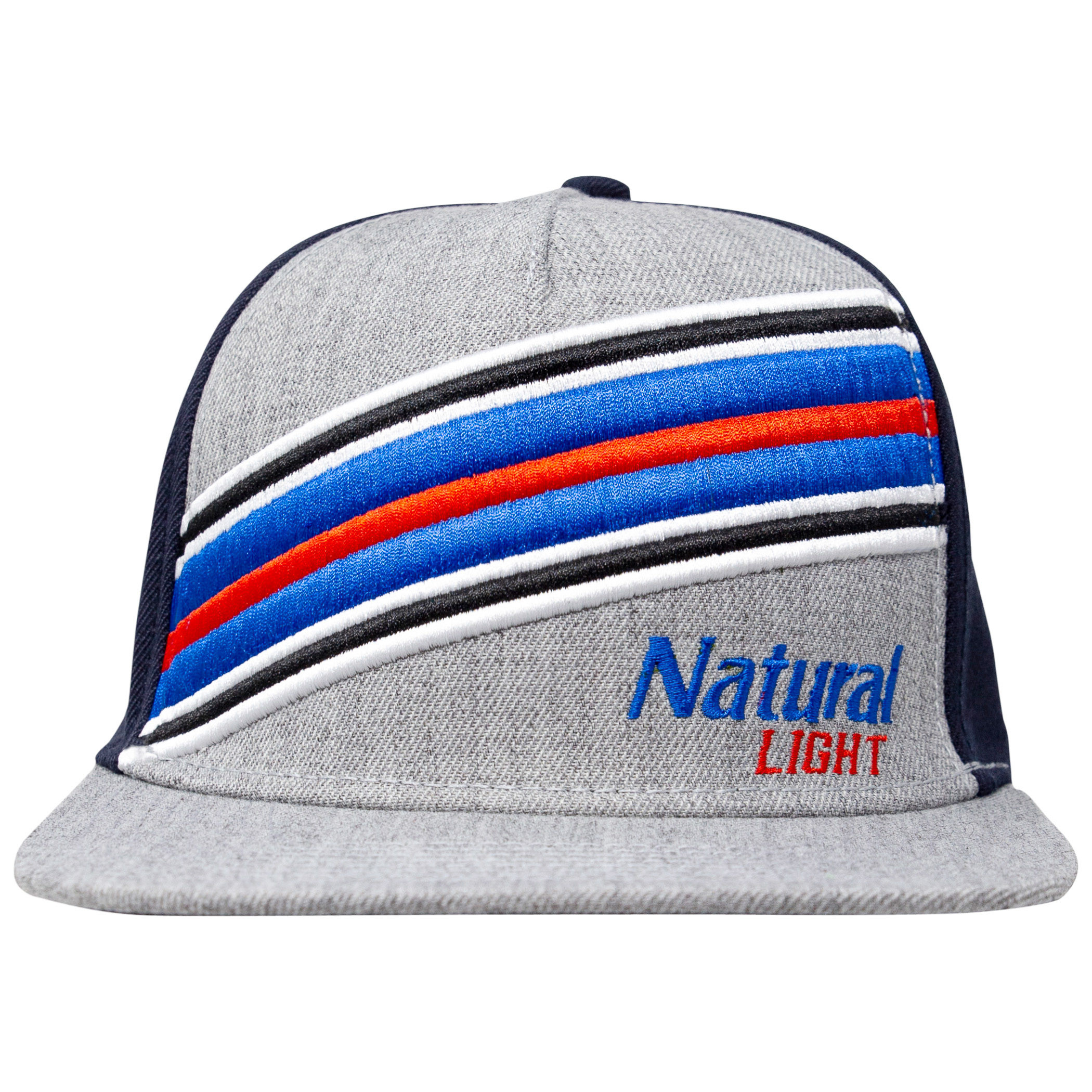 Natural Light Beer Striped Adjustable Snapback Hat