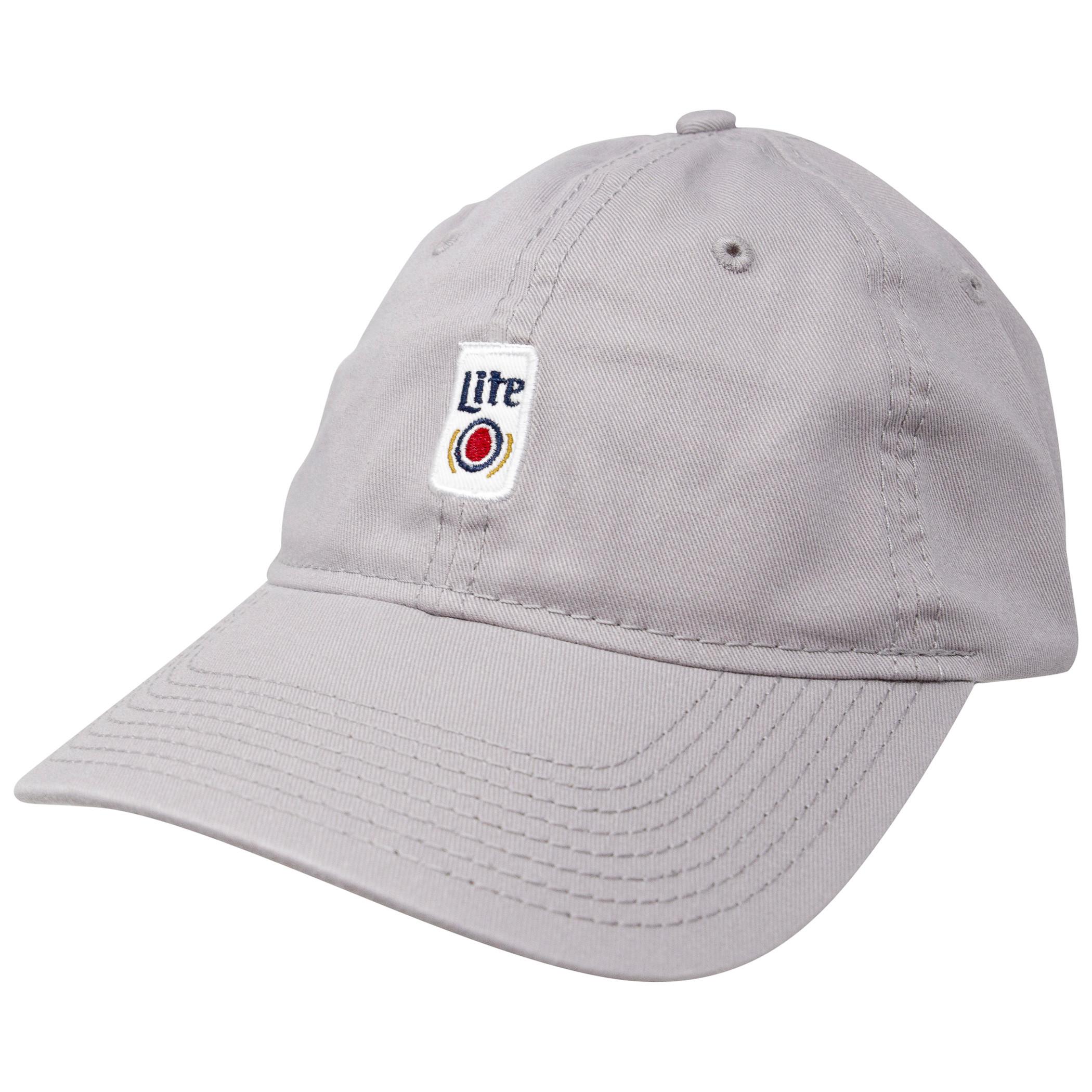 Miller Lite Beer Can Adjustable Strapback Hat