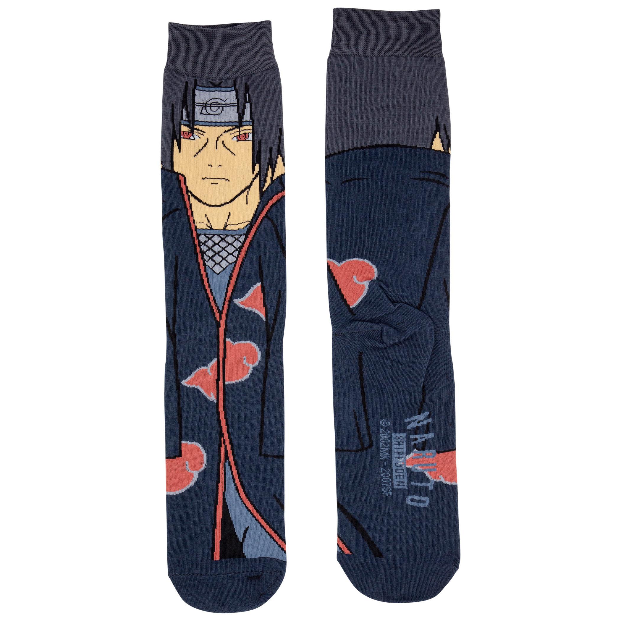 Naruto Itachi 360 Character Crew Sock