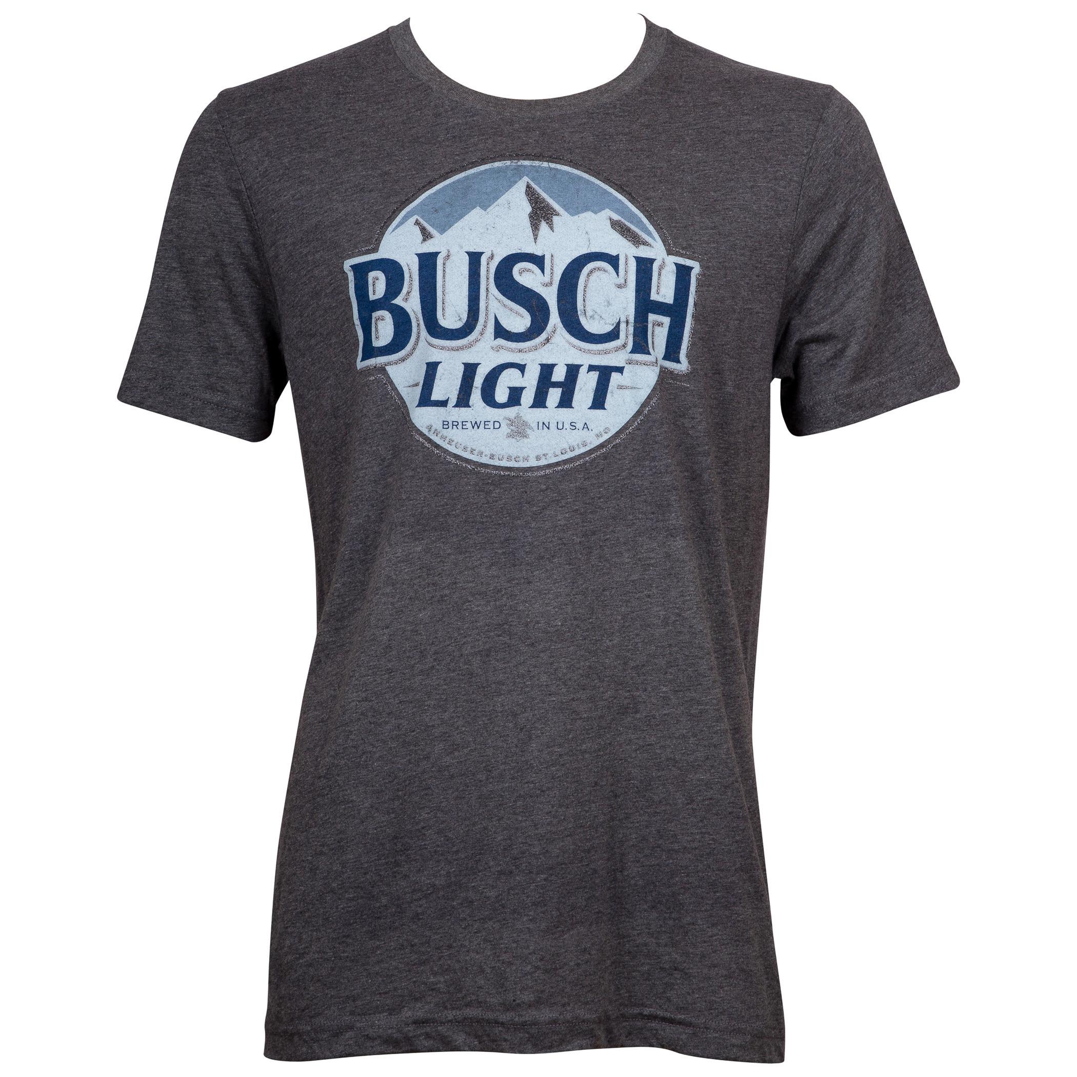 Busch Light Beer Men's Grey T-Shirt