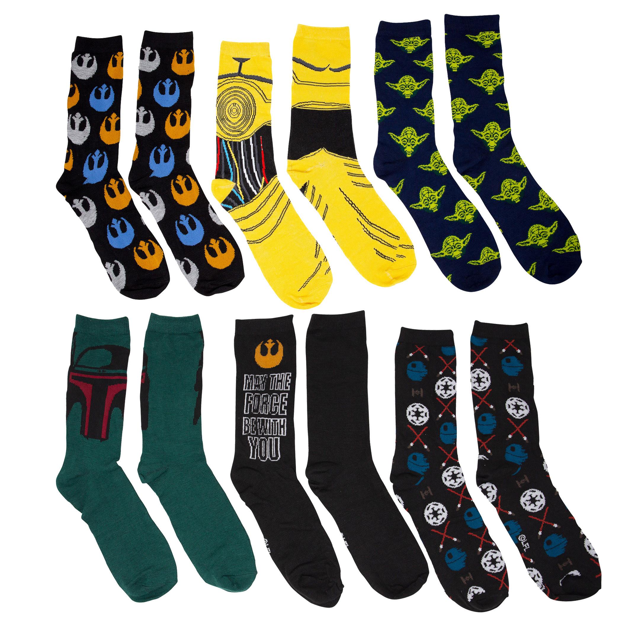 Star Wars Socks 12-Pack Gift Giving Box