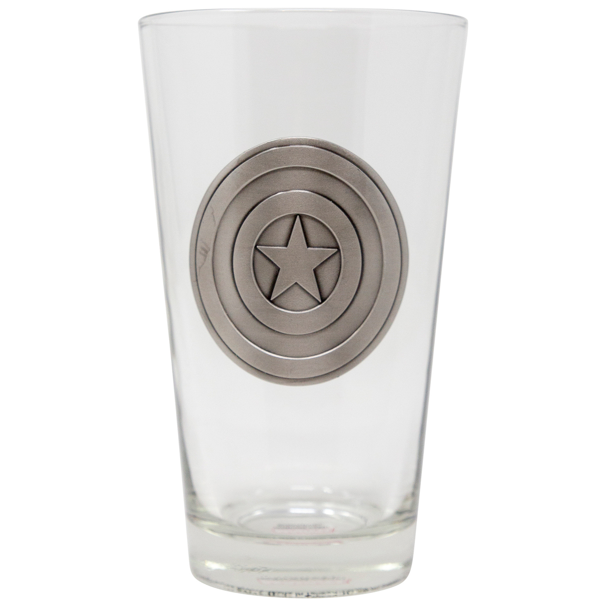Captain America Shield Medallion Glass