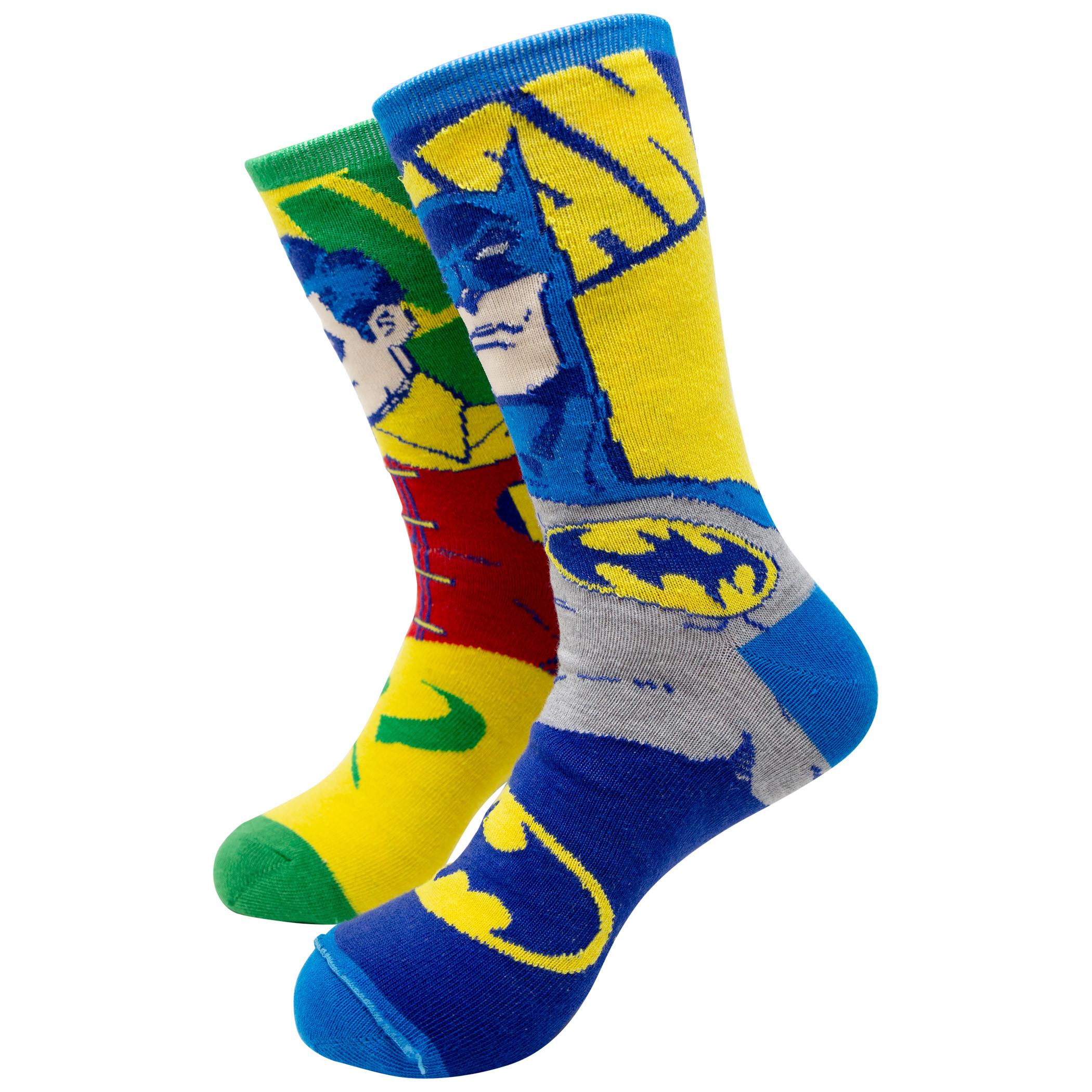 DC Comics Dark Knight Batman/Robin Reversible Crew Socks