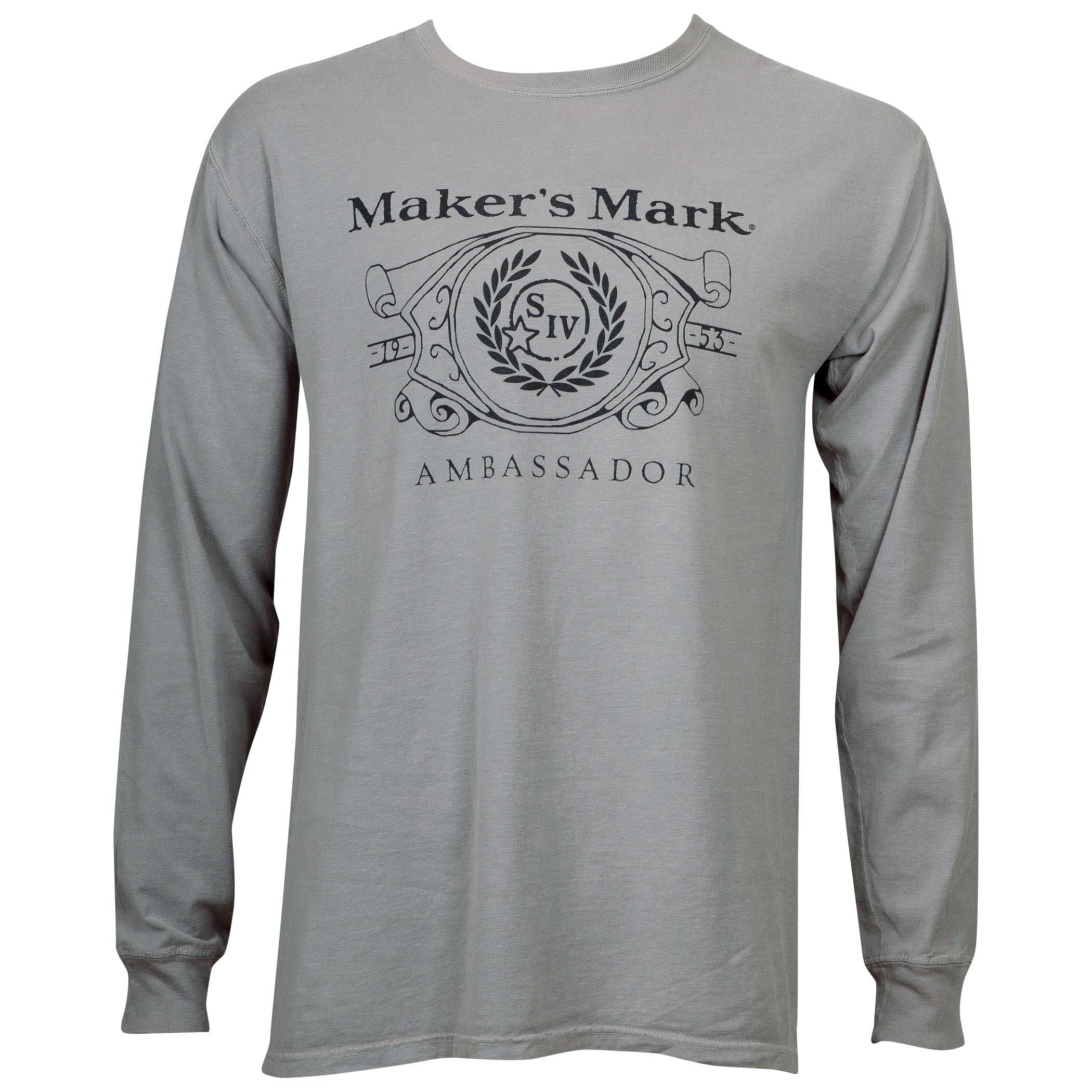 Maker's Mark Eco Friendly Grey Long Sleeve Shirt