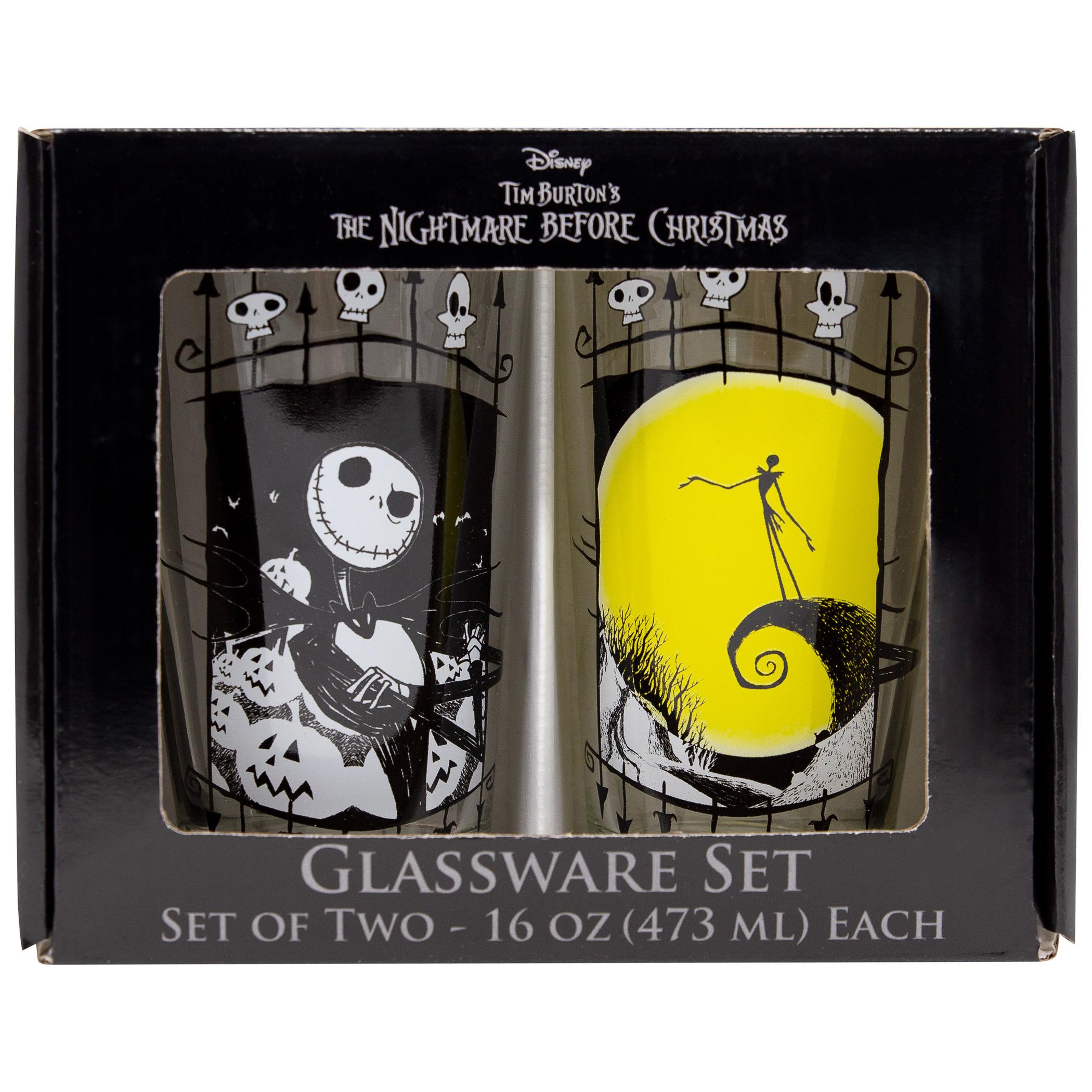 Nightmare Before Christmas Jack 2-Piece Pub Pint Glass Set