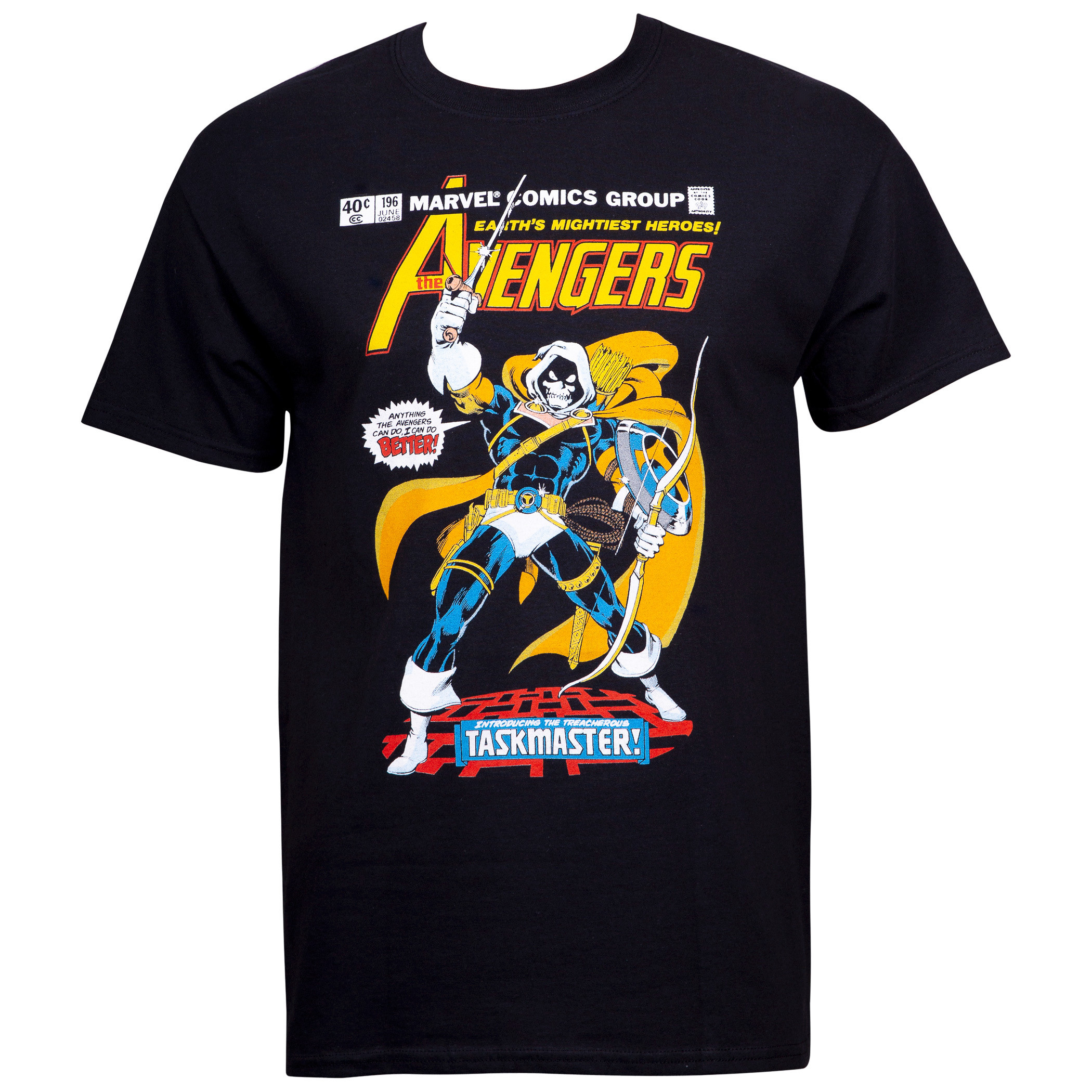 The Taskmaster Avengers Earth's Mightiest Heroes Comic Cover T-Shirt