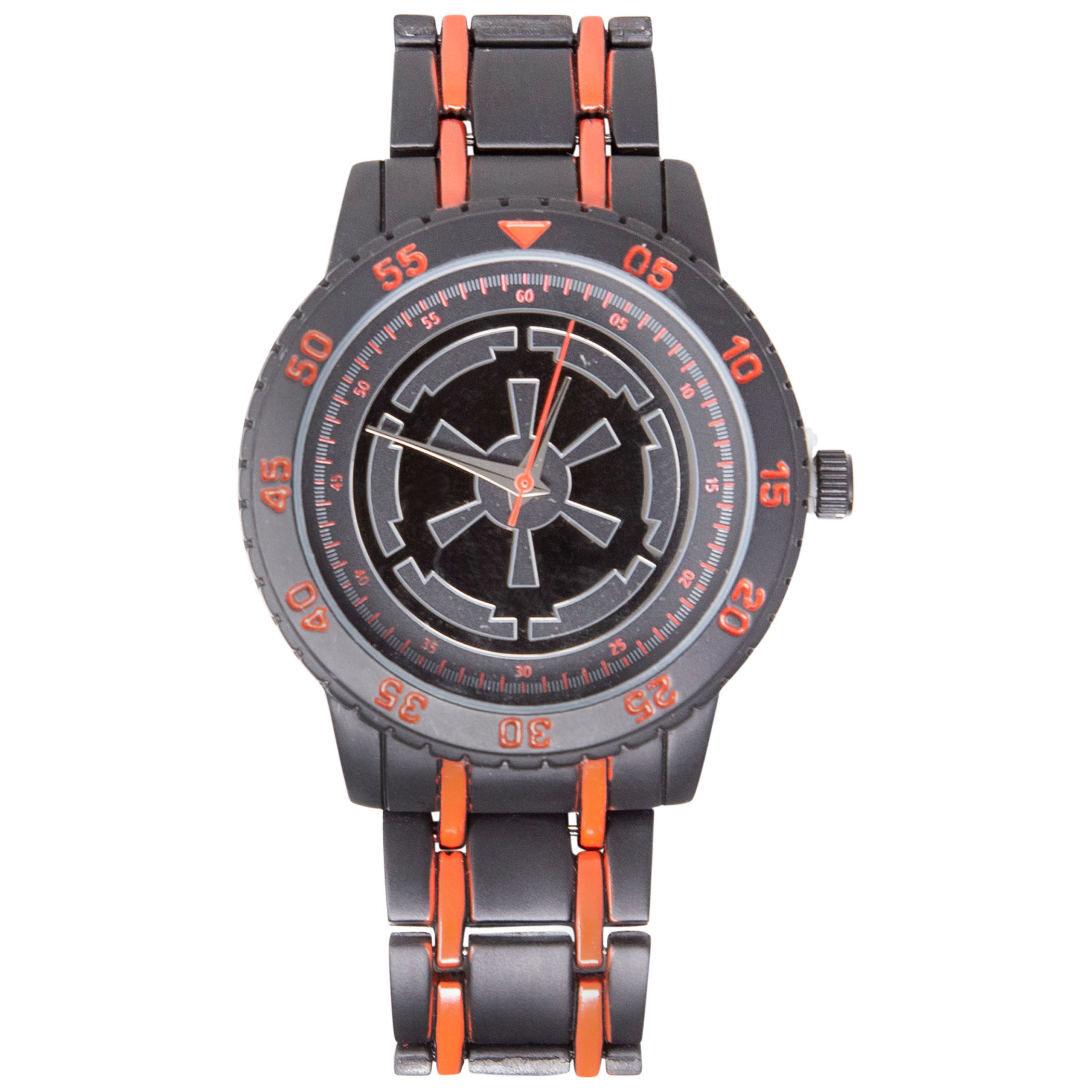 Star Wars Empire Logo Watch With Red Accented Metal Band