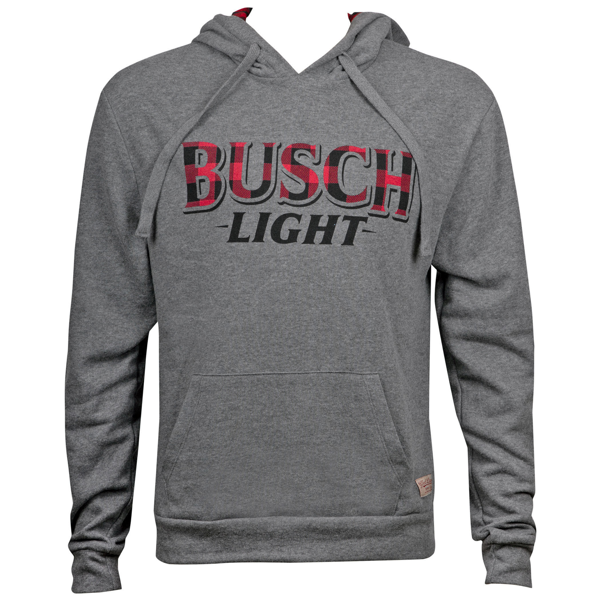 Busch Light Men's Grey Flannel Logo Hoodie