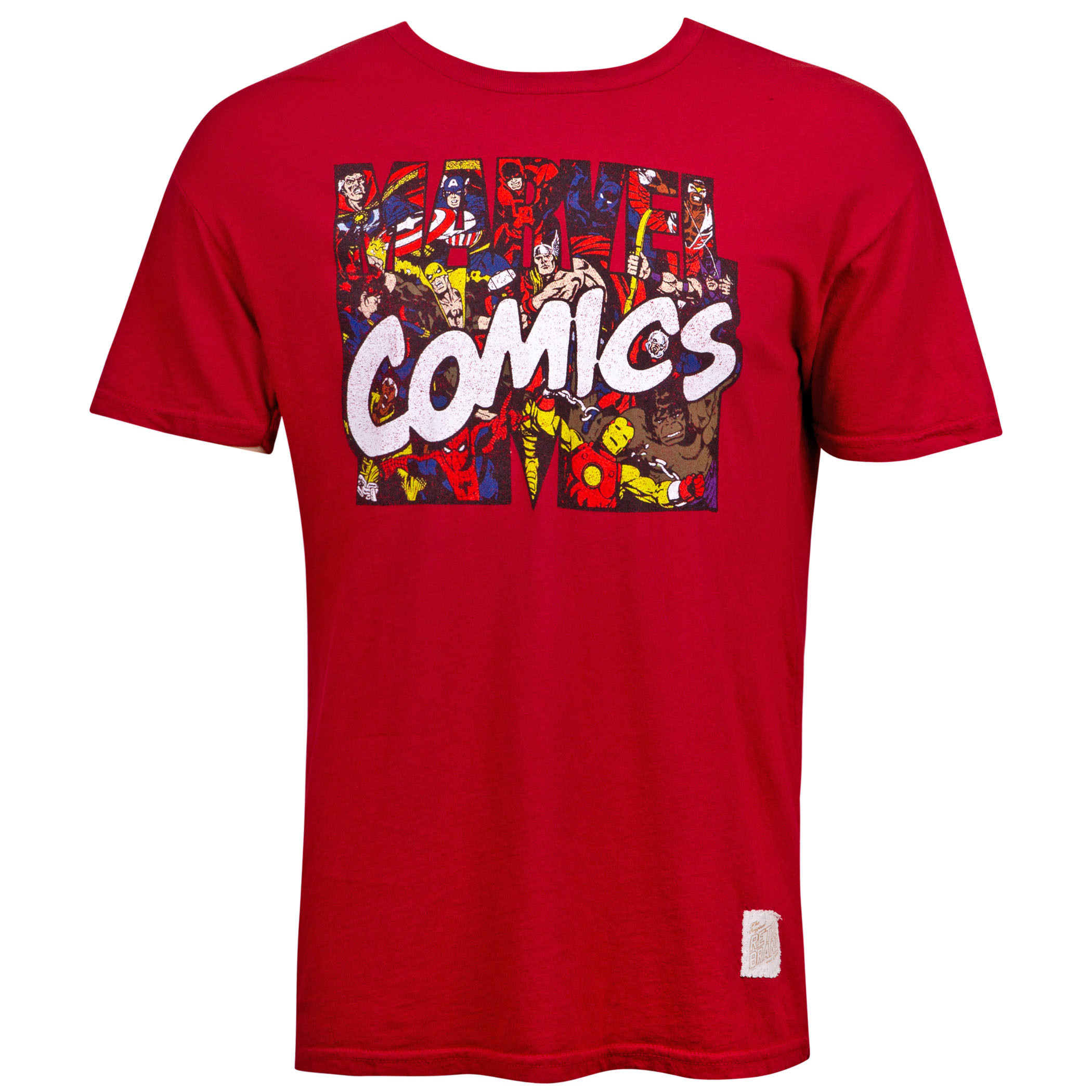 Marvel Comics Logo Retro Brand Vintage T-Shirt