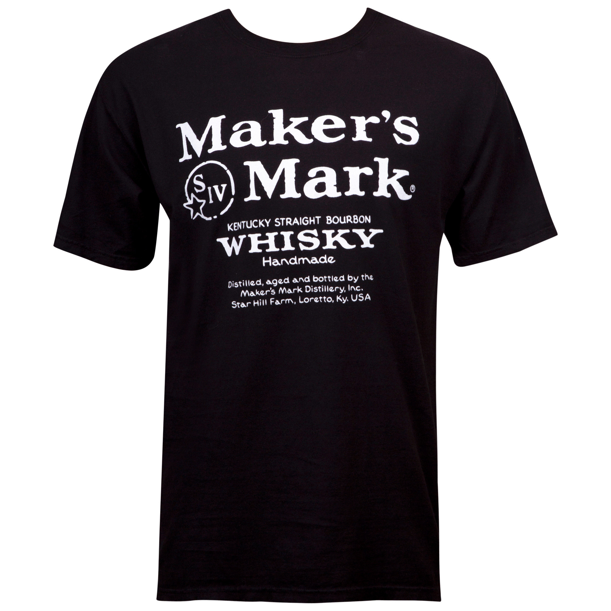 Makers Mark Eco Friendly Logo Black T-Shirt