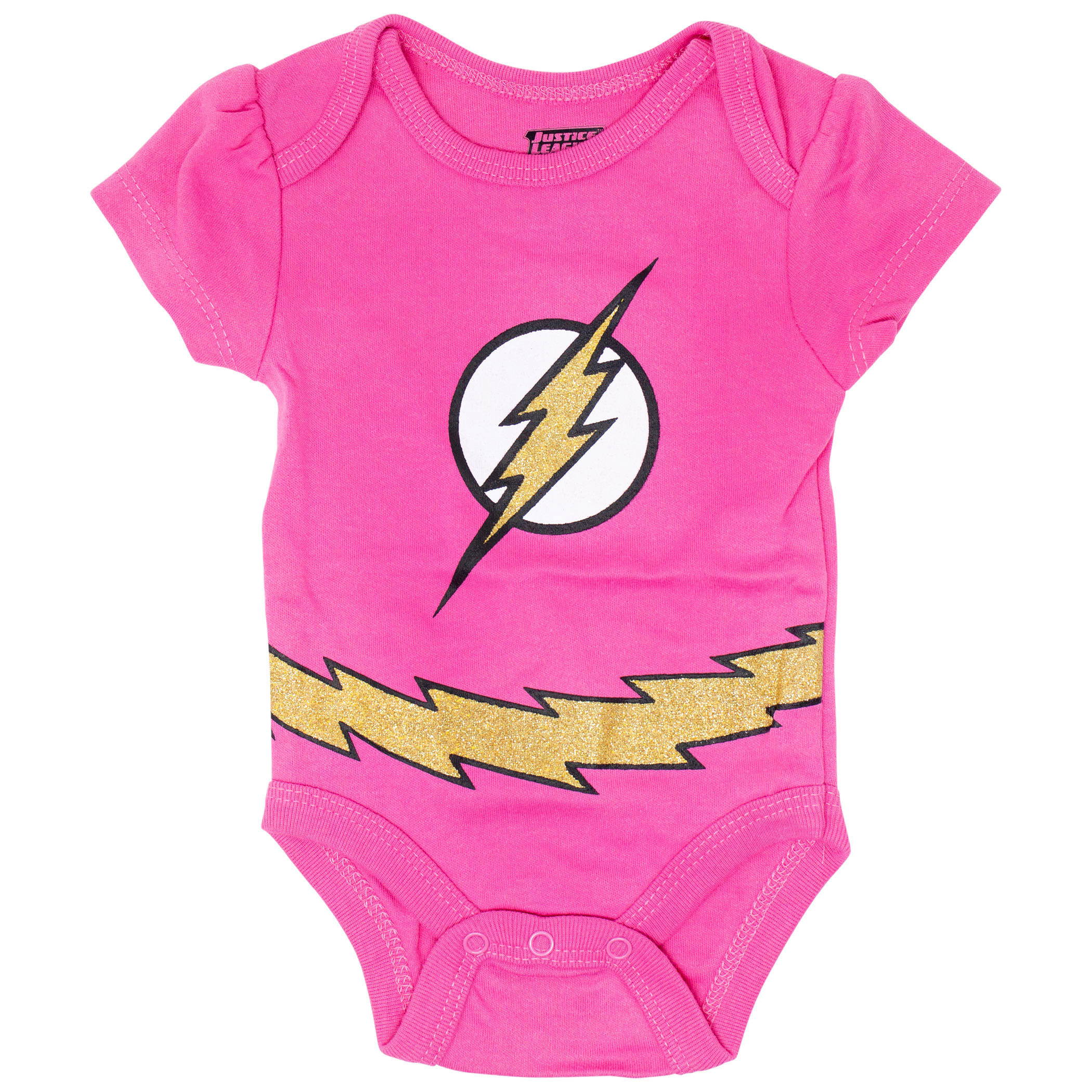 Justice League Girls Rule 5 Piece Infant Snapsuit Set