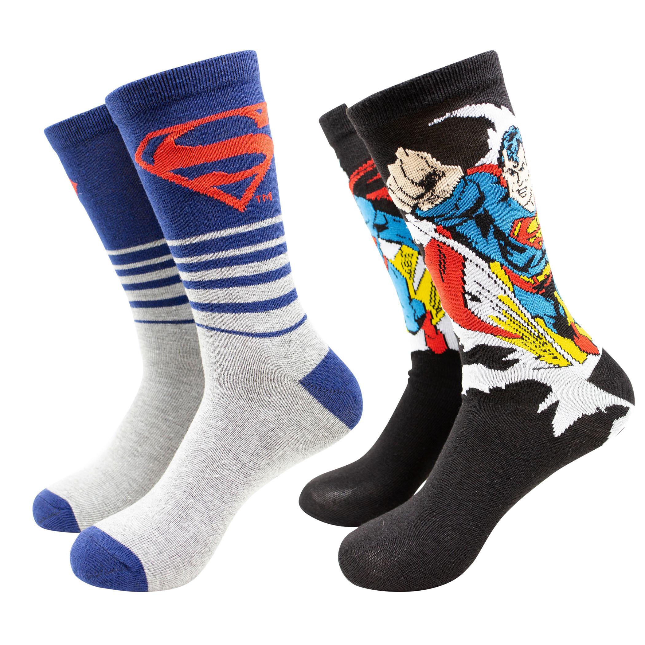 Superman Breakthrough Crew Socks 2-Pack