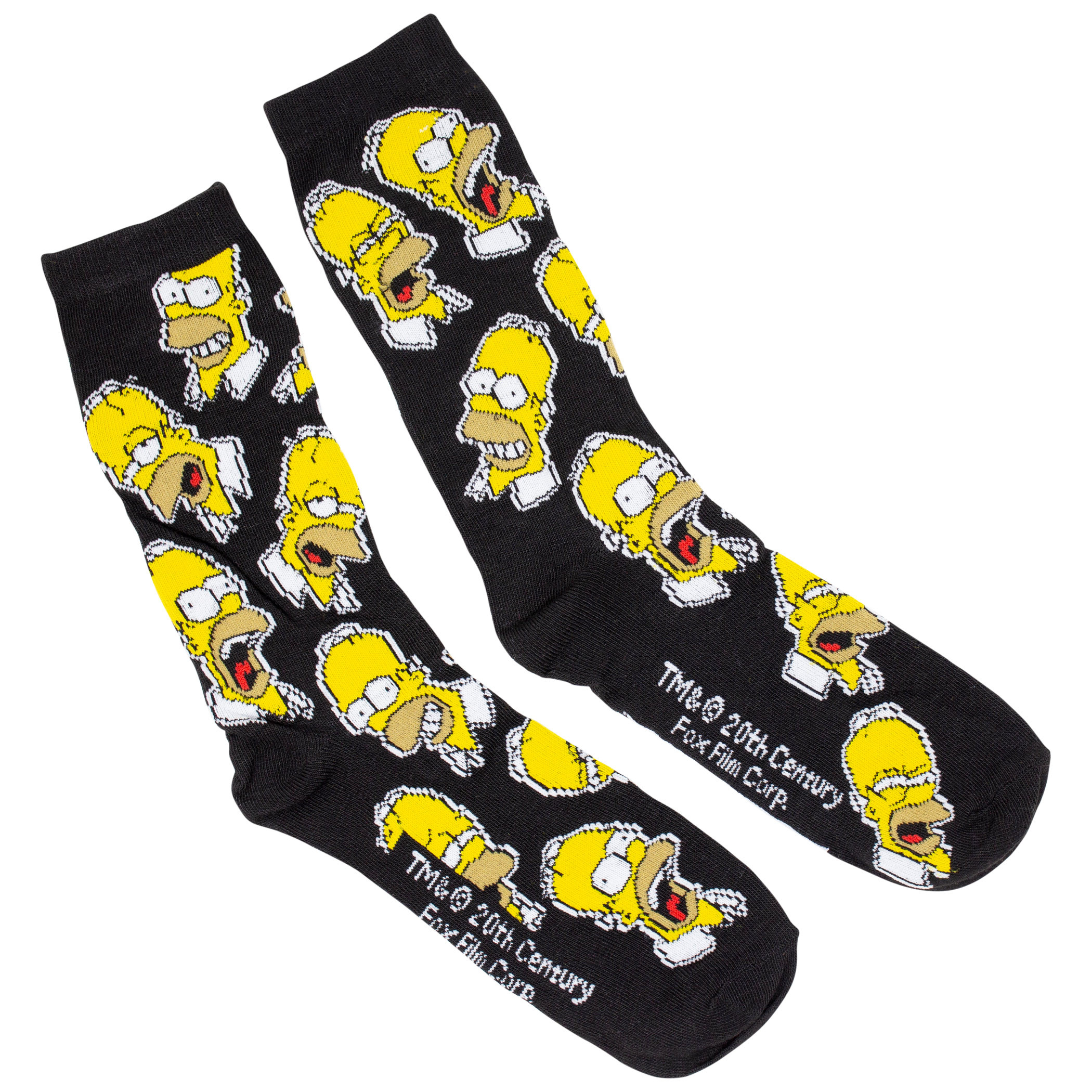 The Simpsons Homer and Donuts 2-Pack Crew Socks